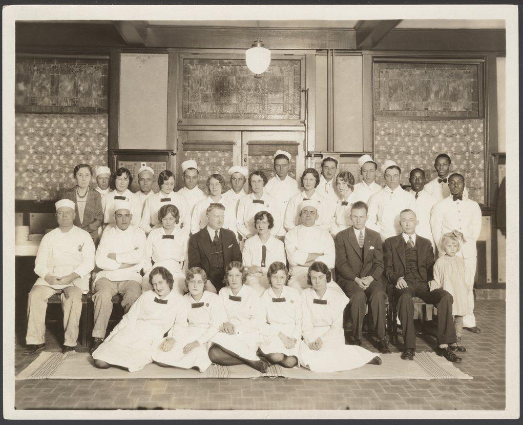 Atchison, Topeka & Santa Fe Railway Company's Fred Harvey House staff, Wellington, Kansas