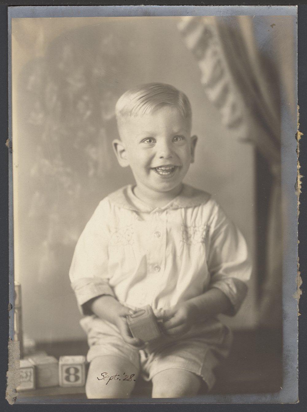 Roy Menninger, M.D. as a child
