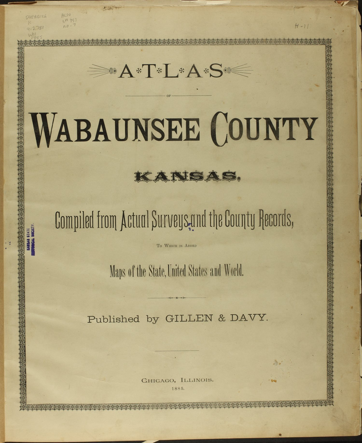 Atlas of Wabaunsee County, Kansas - Title Page