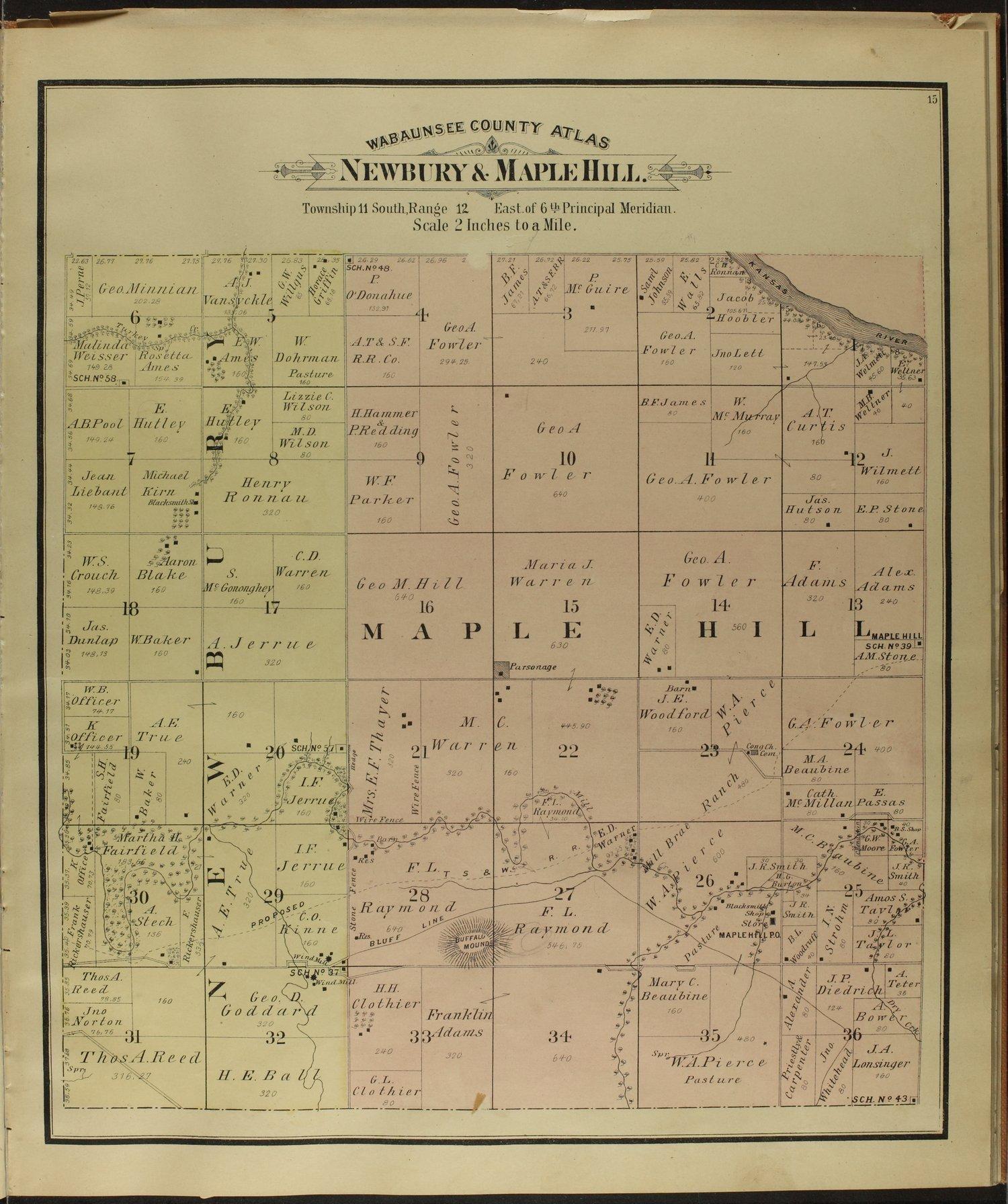 Atlas of Wabaunsee County, Kansas - 15