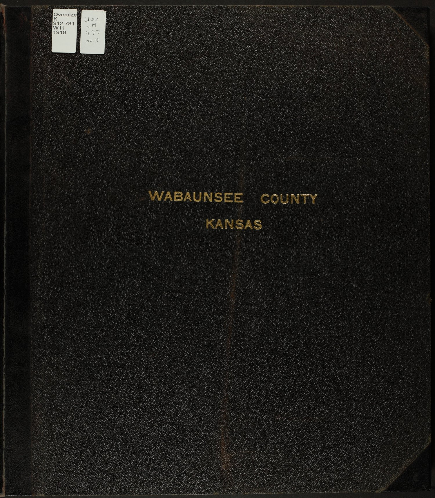 Standard atlas of Wabaunsee County, Kansas - Front Cover