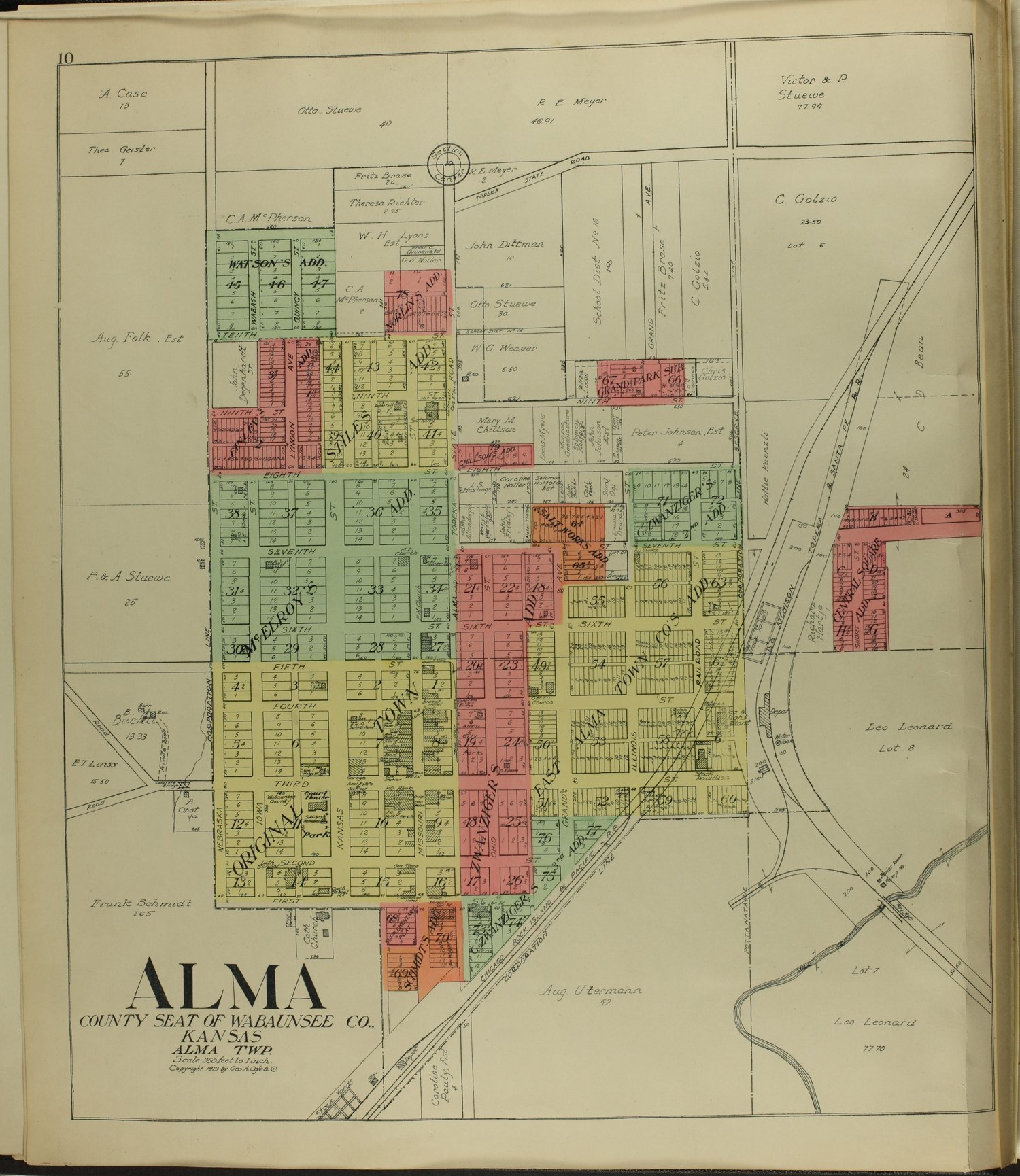 Standard atlas of Wabaunsee County, Kansas - 10