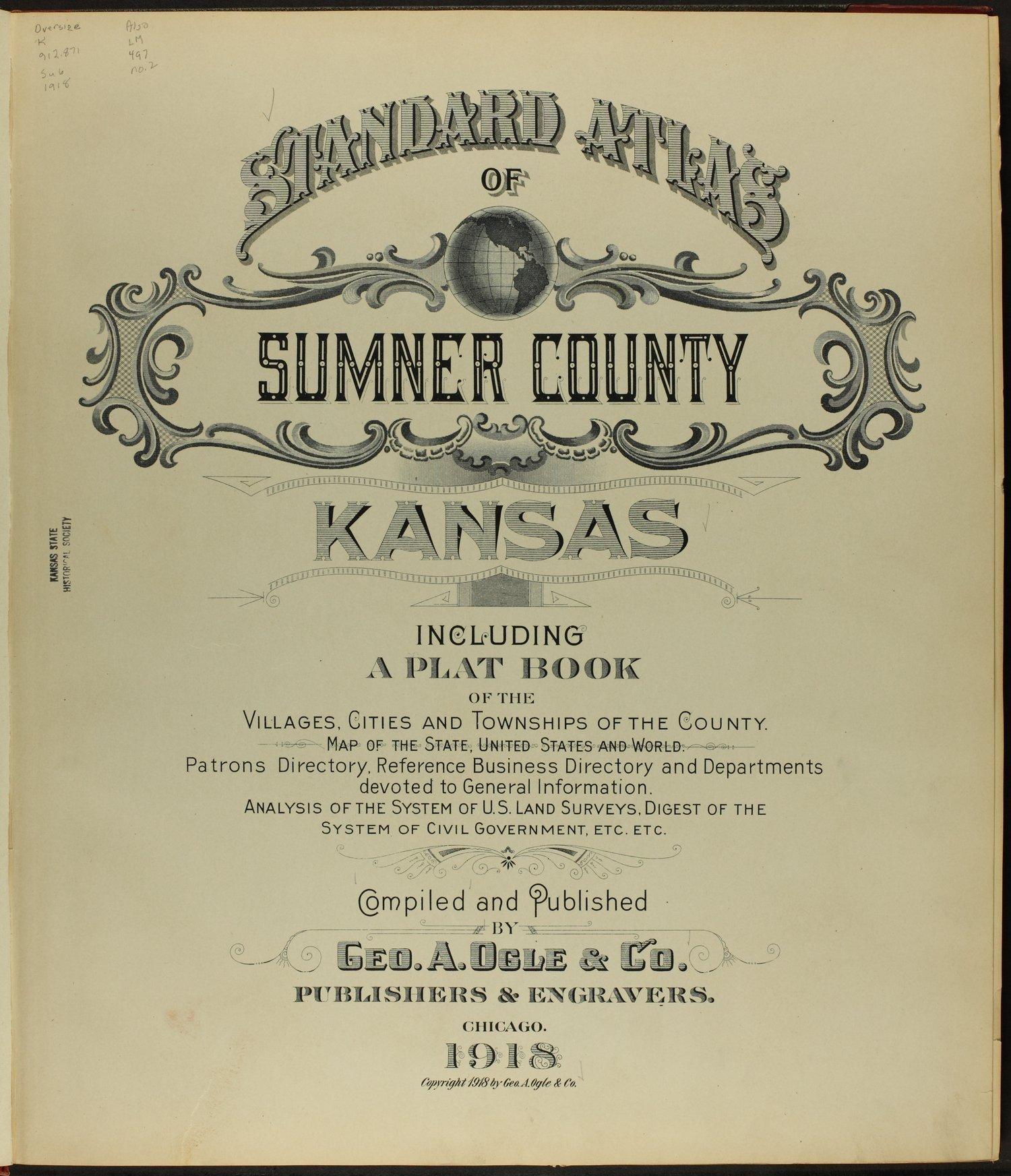 Standard atlas of Sumner County, Kansas - Title Page