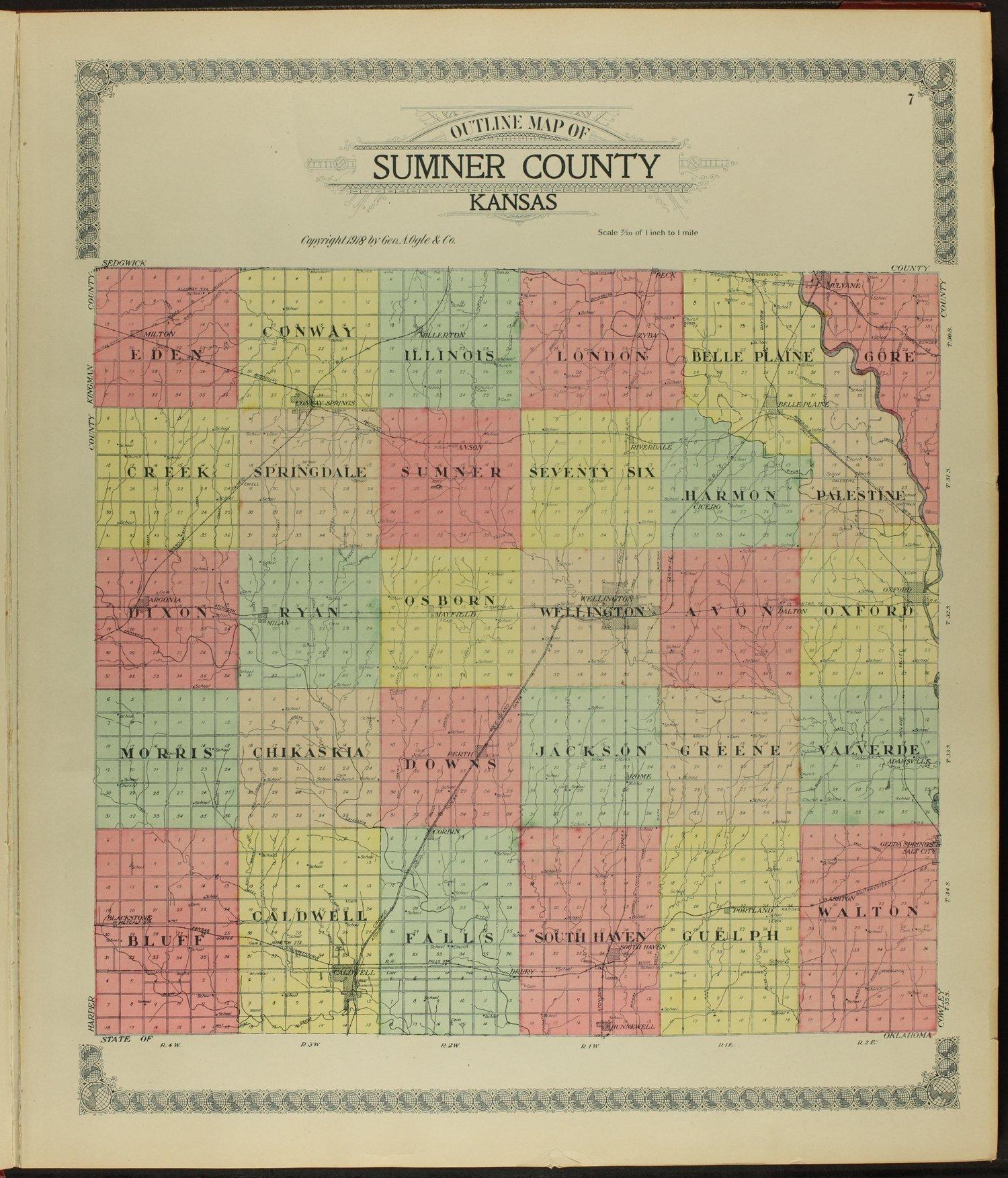 Standard atlas of Sumner County, Kansas - 7