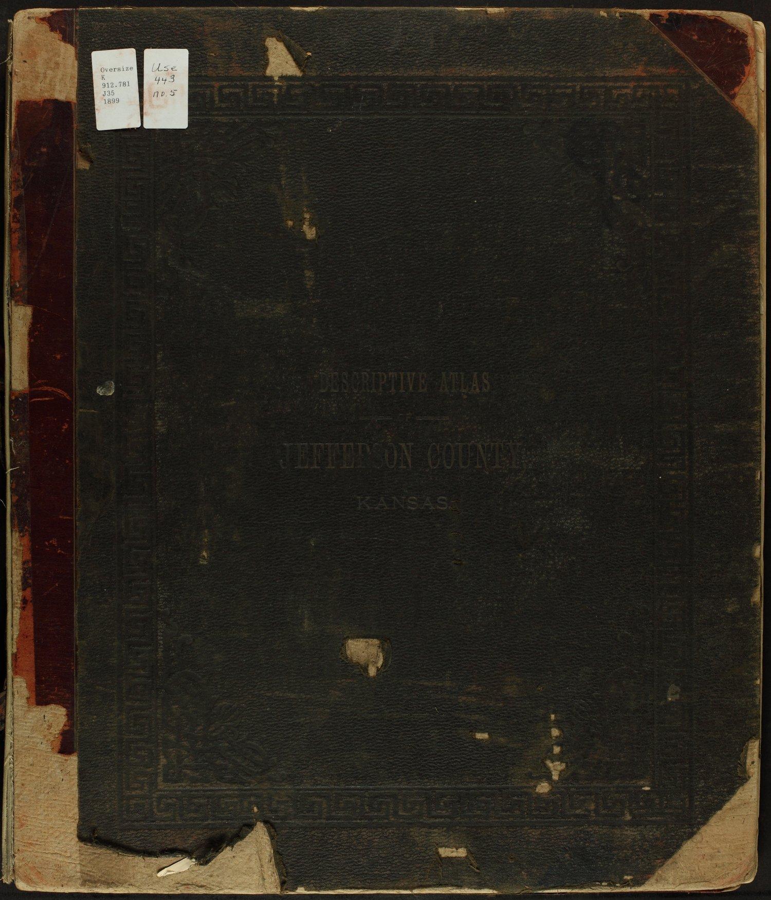 Descriptive atlas of Jefferson County, Kansas - Front Cover