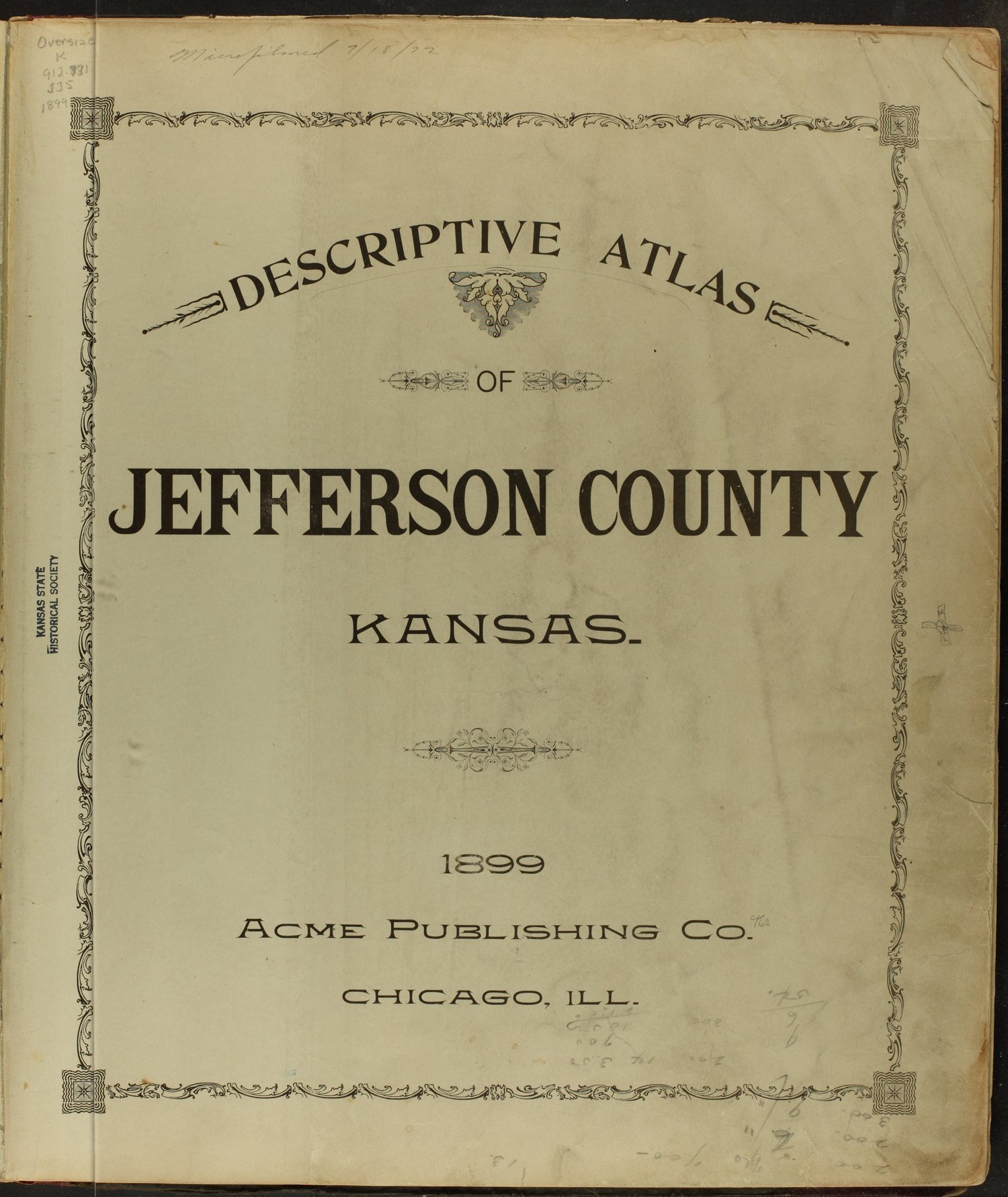 Descriptive atlas of Jefferson County, Kansas - Title Page