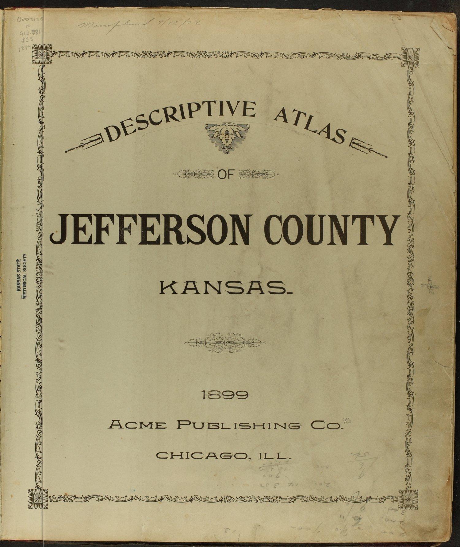 Descriptive atlas of Jefferson County, Kansas - Title Page