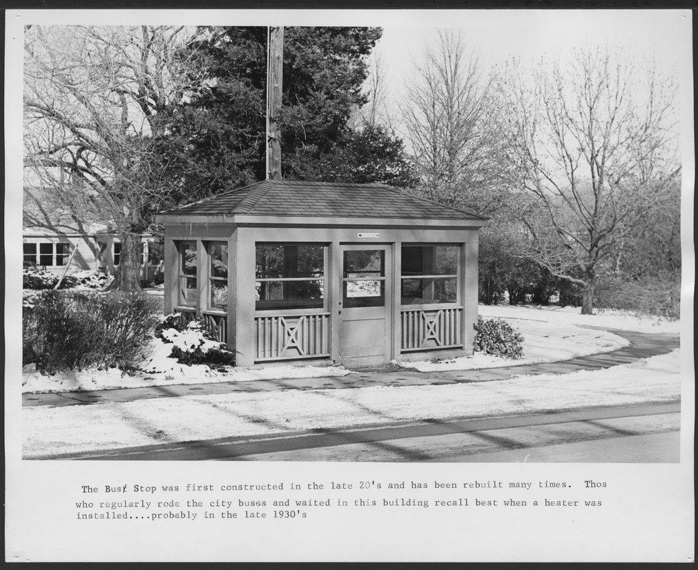 Menninger Foundation bus stop shelter in Topeka, Kansas - 2
