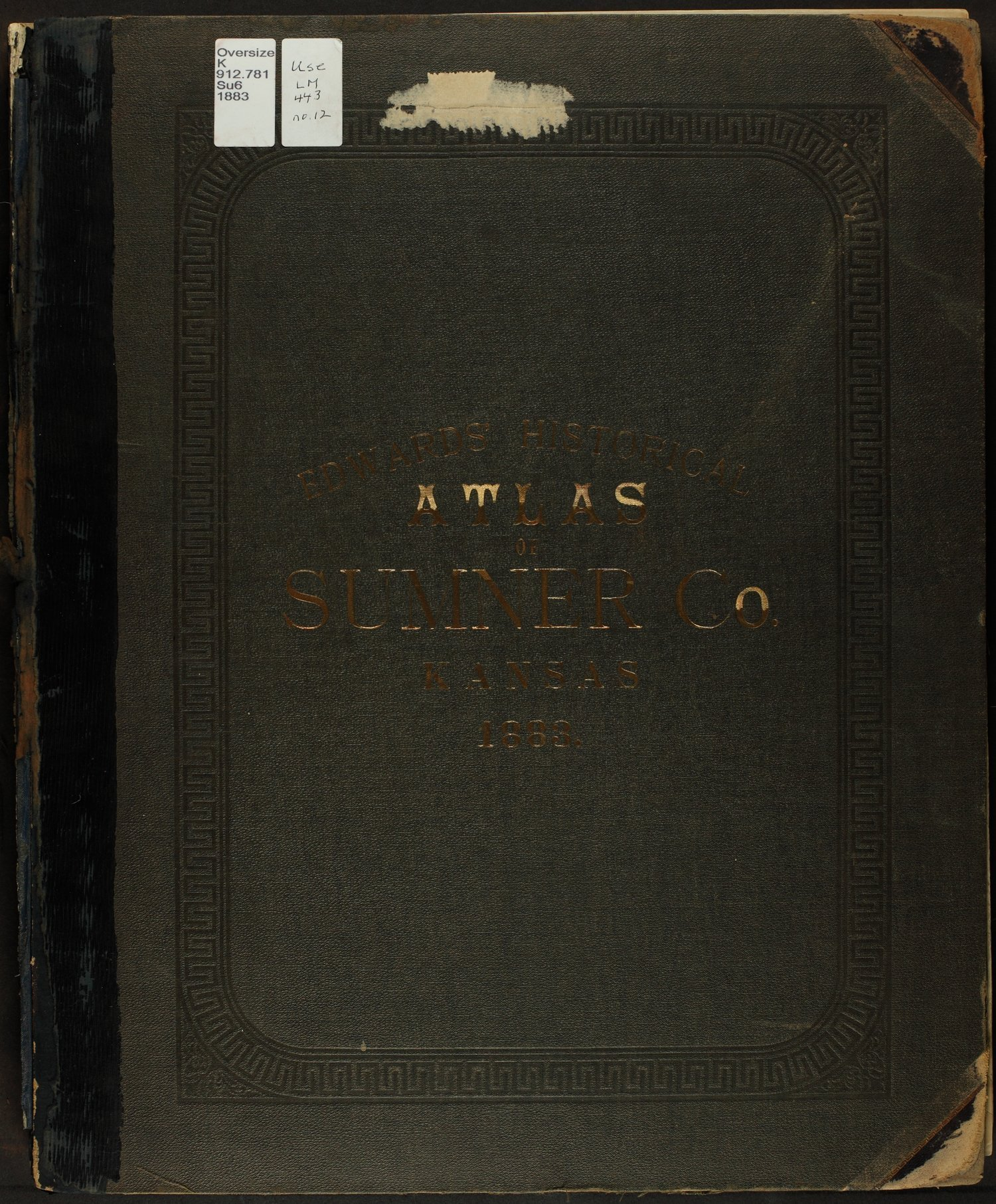 Historical atlas of Sumner County, Kansas - Front Cover
