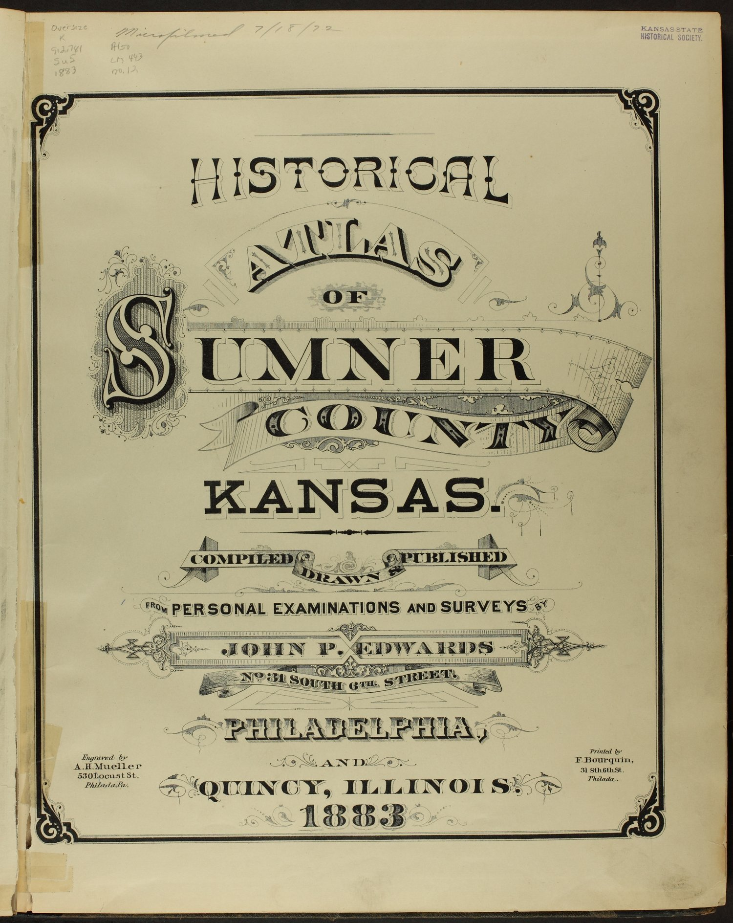 Historical atlas of Sumner County, Kansas - Title Page