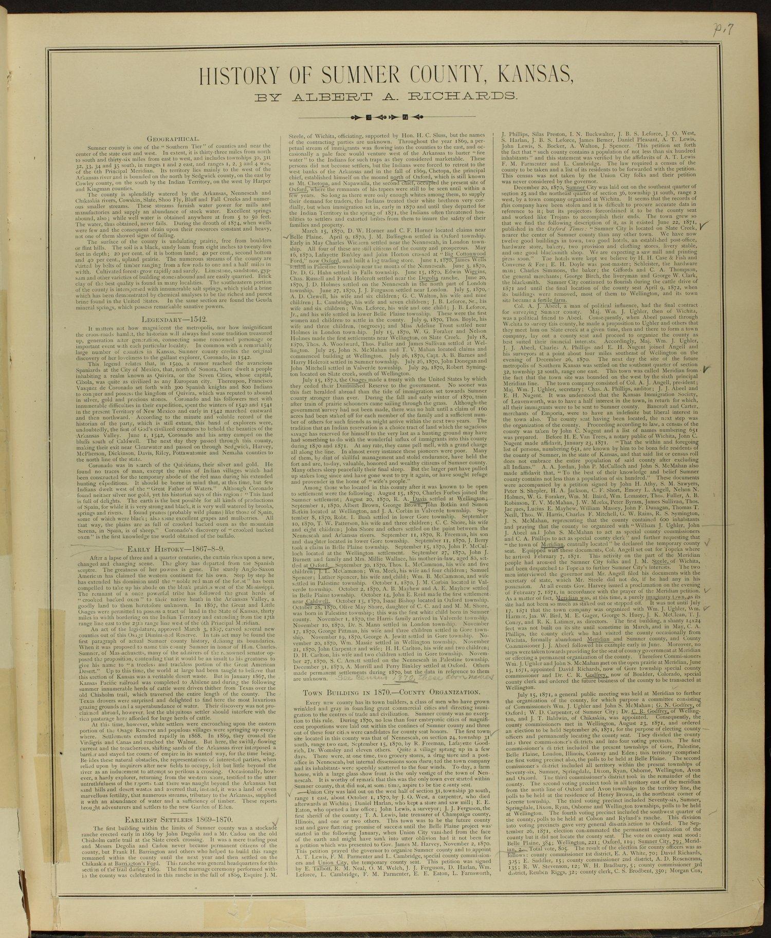 Historical atlas of Sumner County, Kansas - 7
