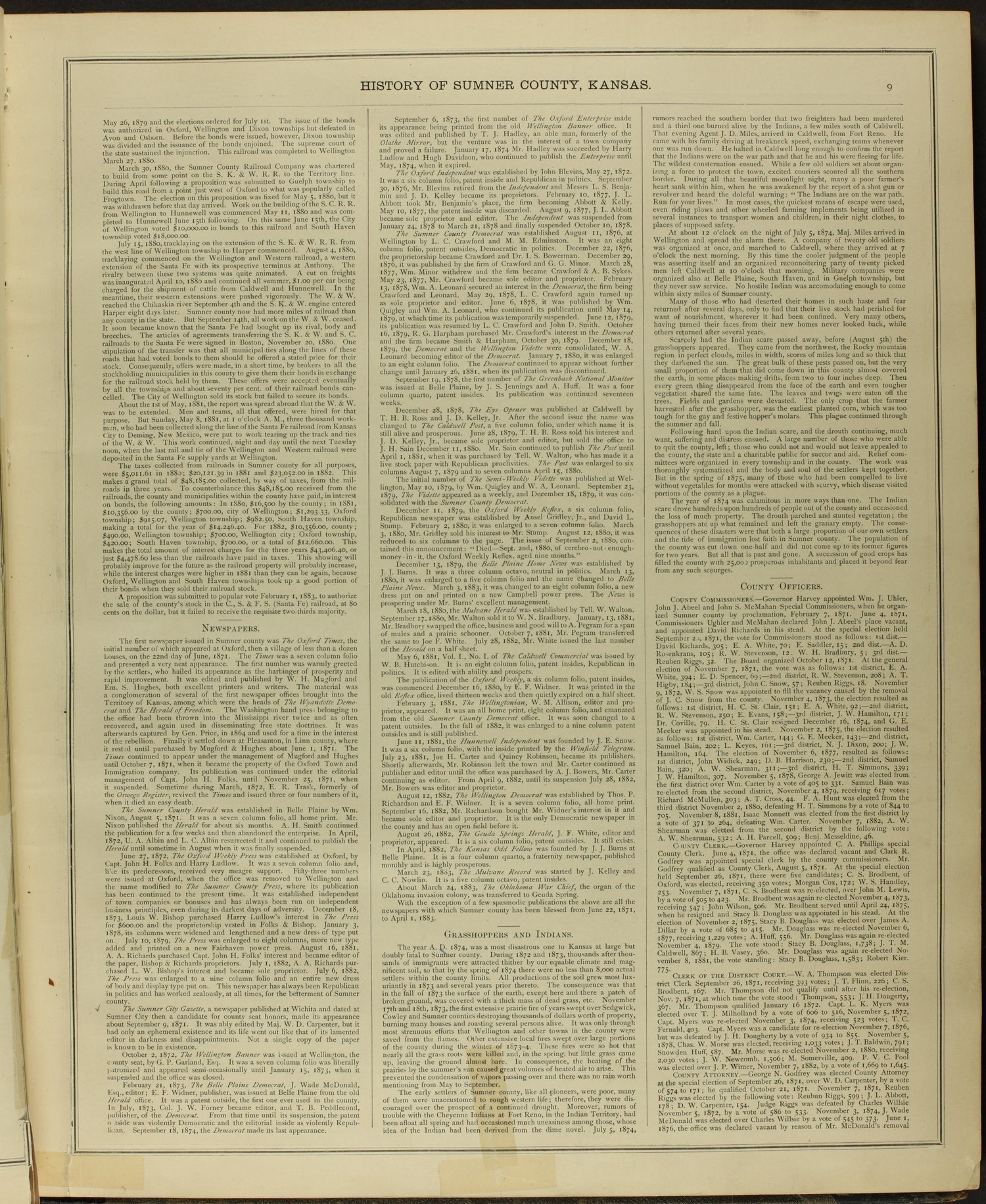 Historical atlas of Sumner County, Kansas - 9