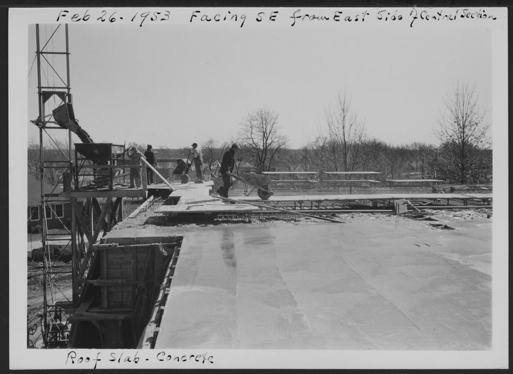 Construction of the C.F. Menninger Memorial Hospital in Topeka Kansas - 1