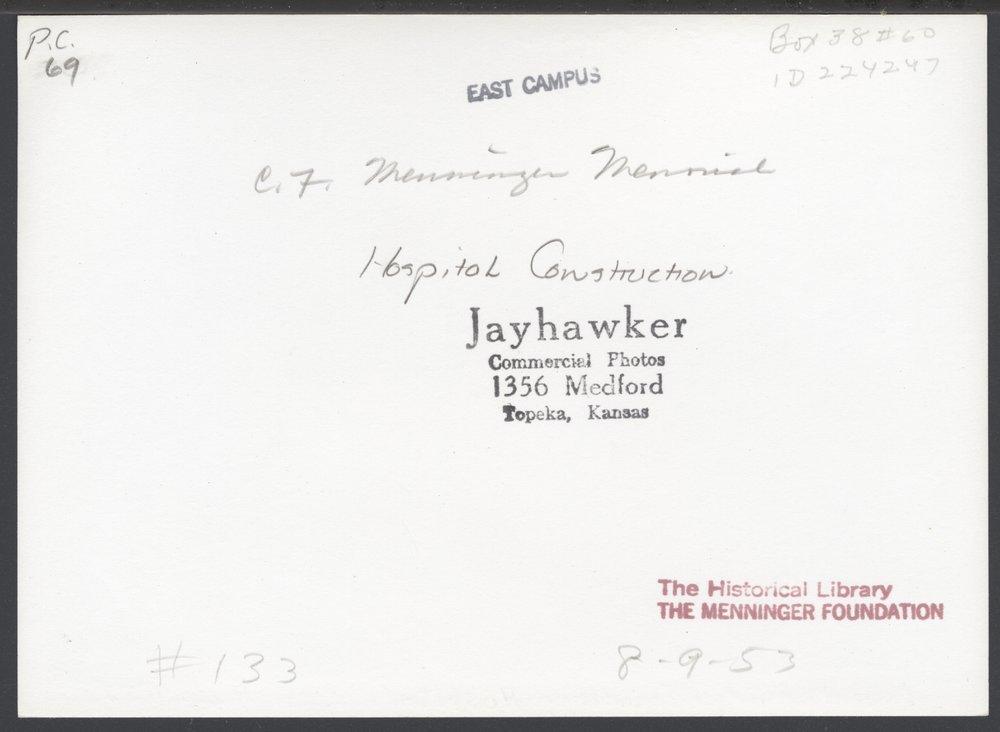 Construction of the C.F. Menninger Memorial Hospital in Topeka Kansas - 4