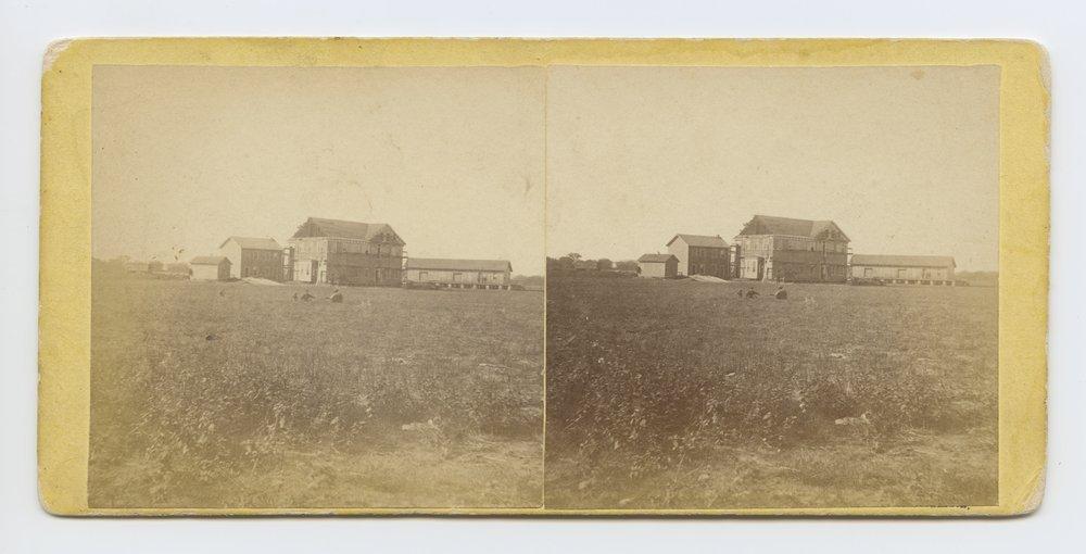 Hotel & depot Salina, Kansas. 470 miles west of St. Louis Mo. - 1