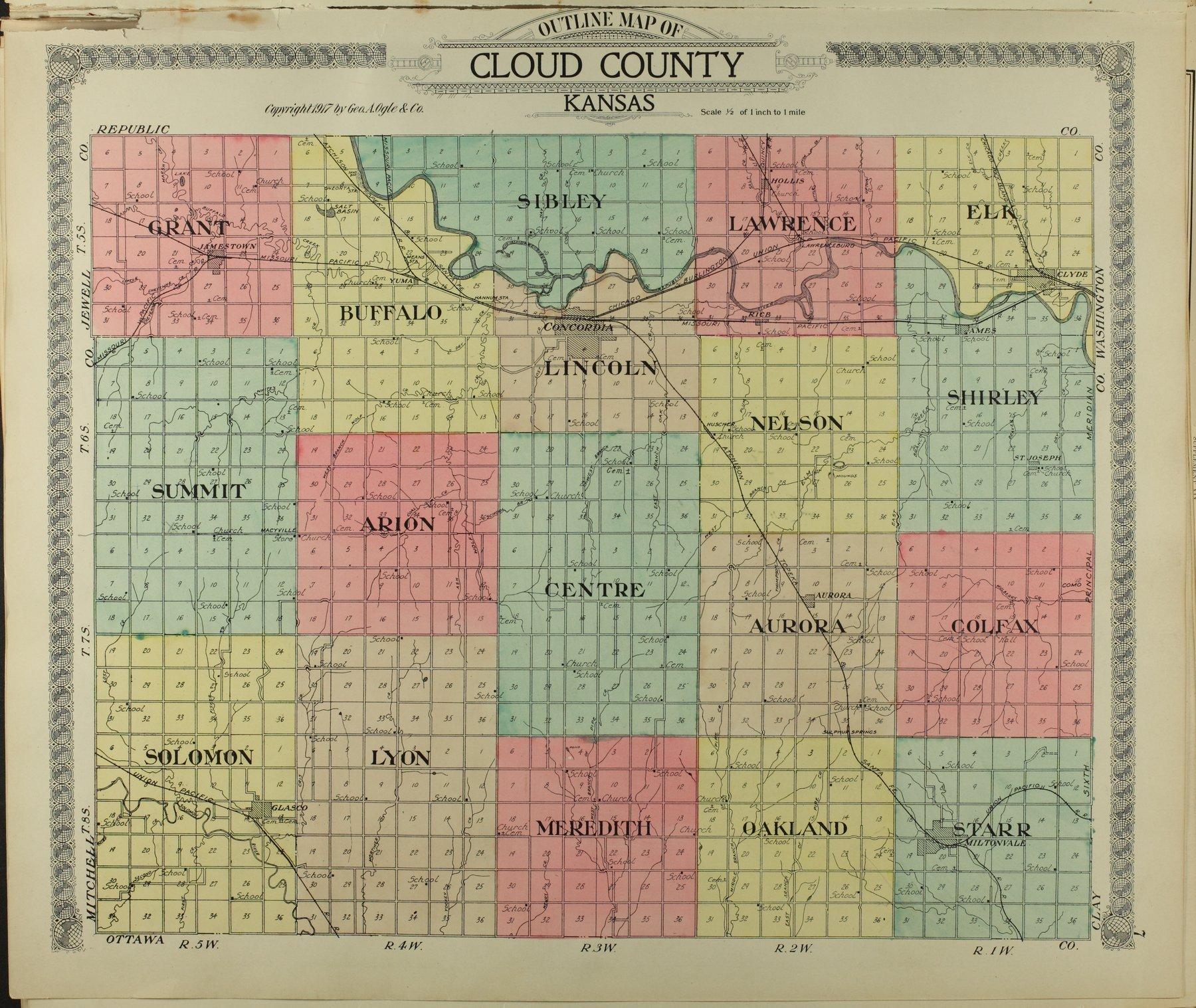 Standard atlas of Cloud County, Kansas - 7