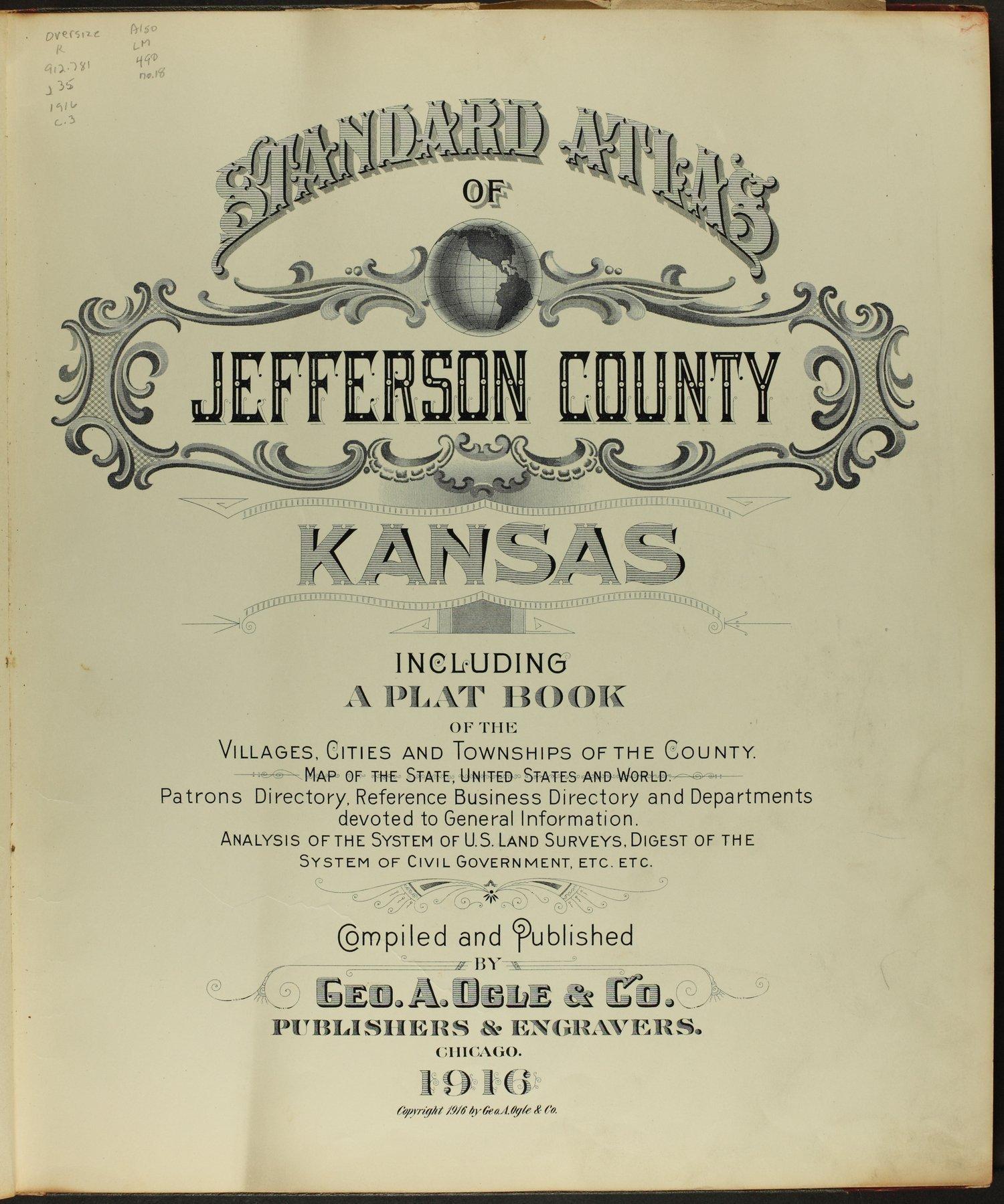Standard atlas of Jefferson County, Kansas - Title Page