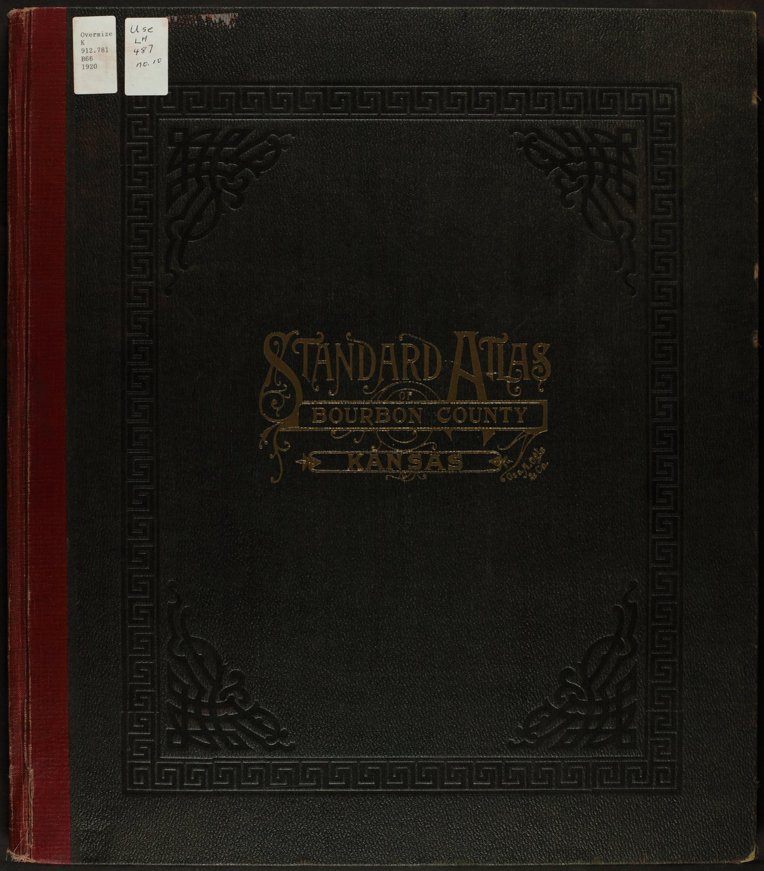 Standard atlas of Bourbon County, Kansas - Front Cover