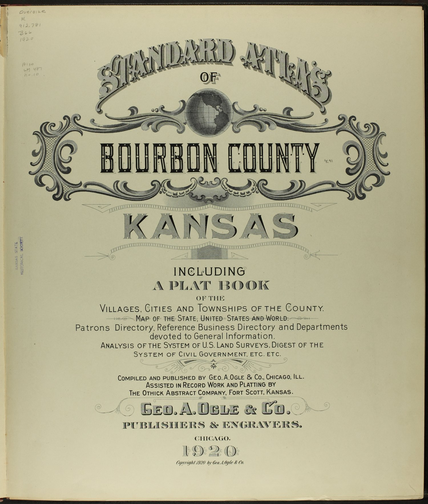 Standard atlas of Bourbon County, Kansas - Title Page