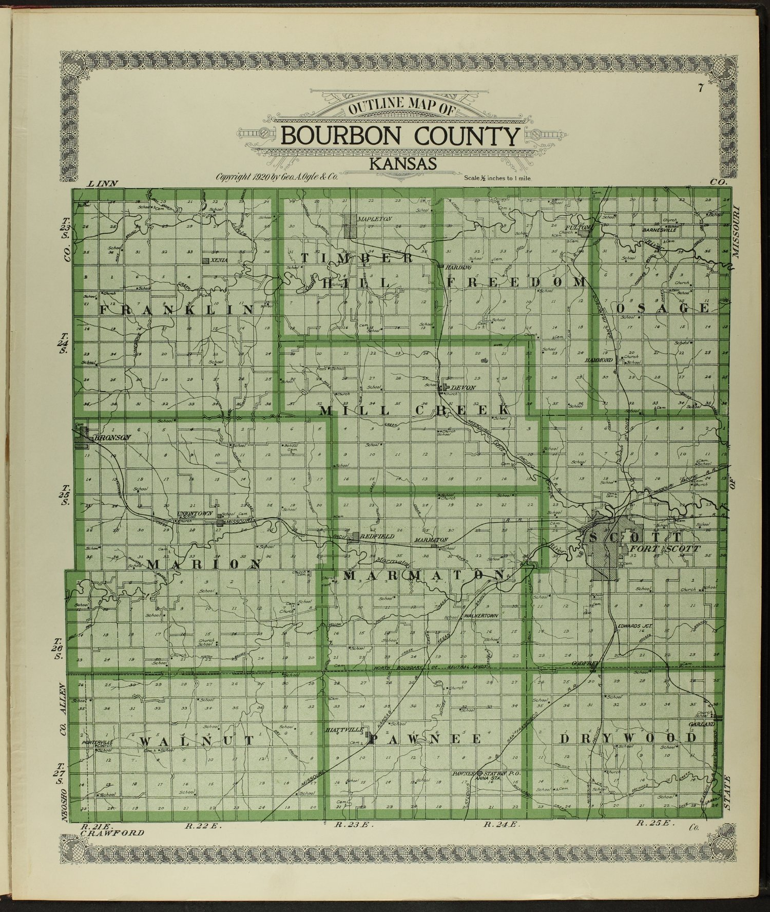Standard atlas of Bourbon County, Kansas - 7