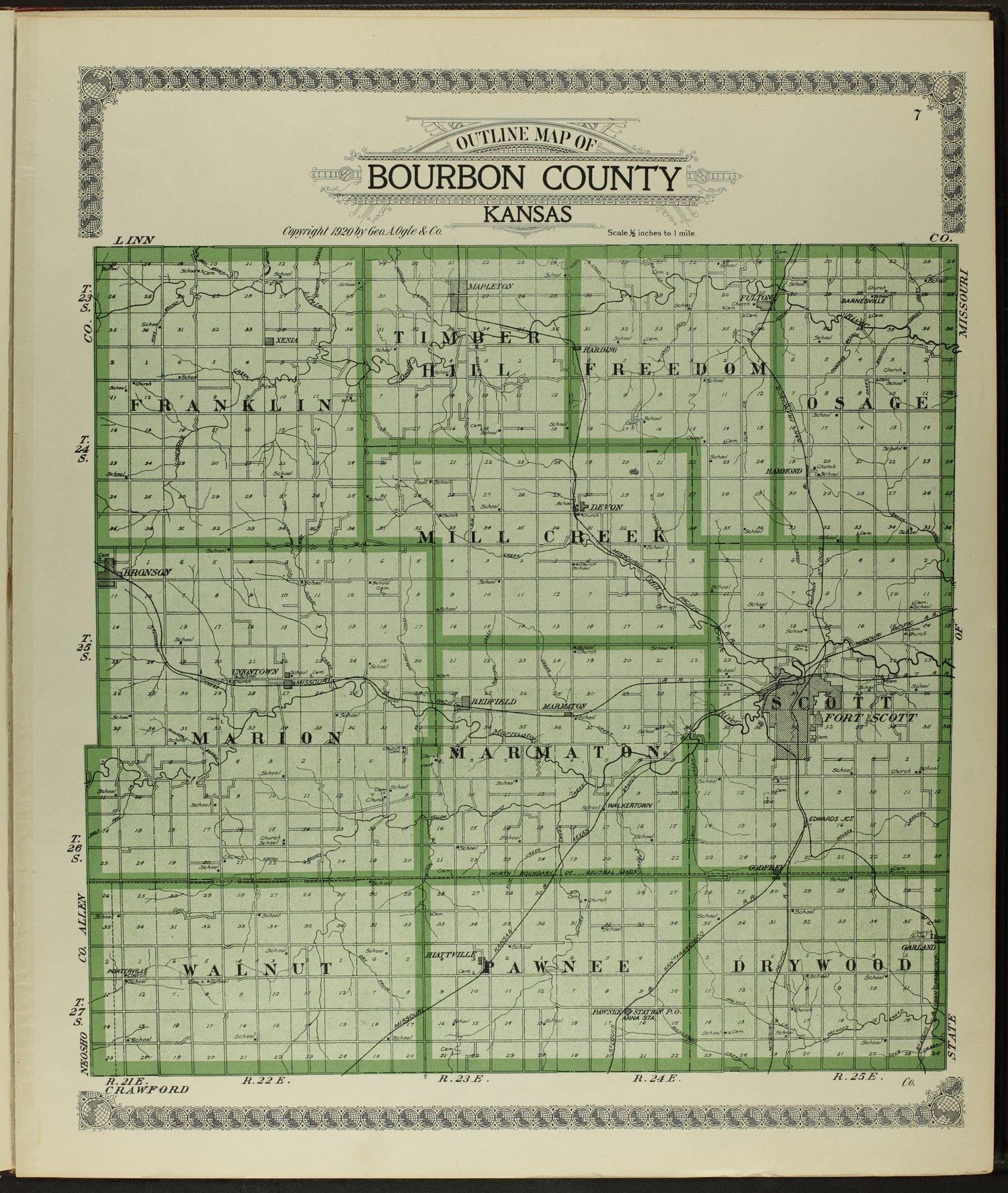 Standard atlas of Bourbon County, Kansas - 7