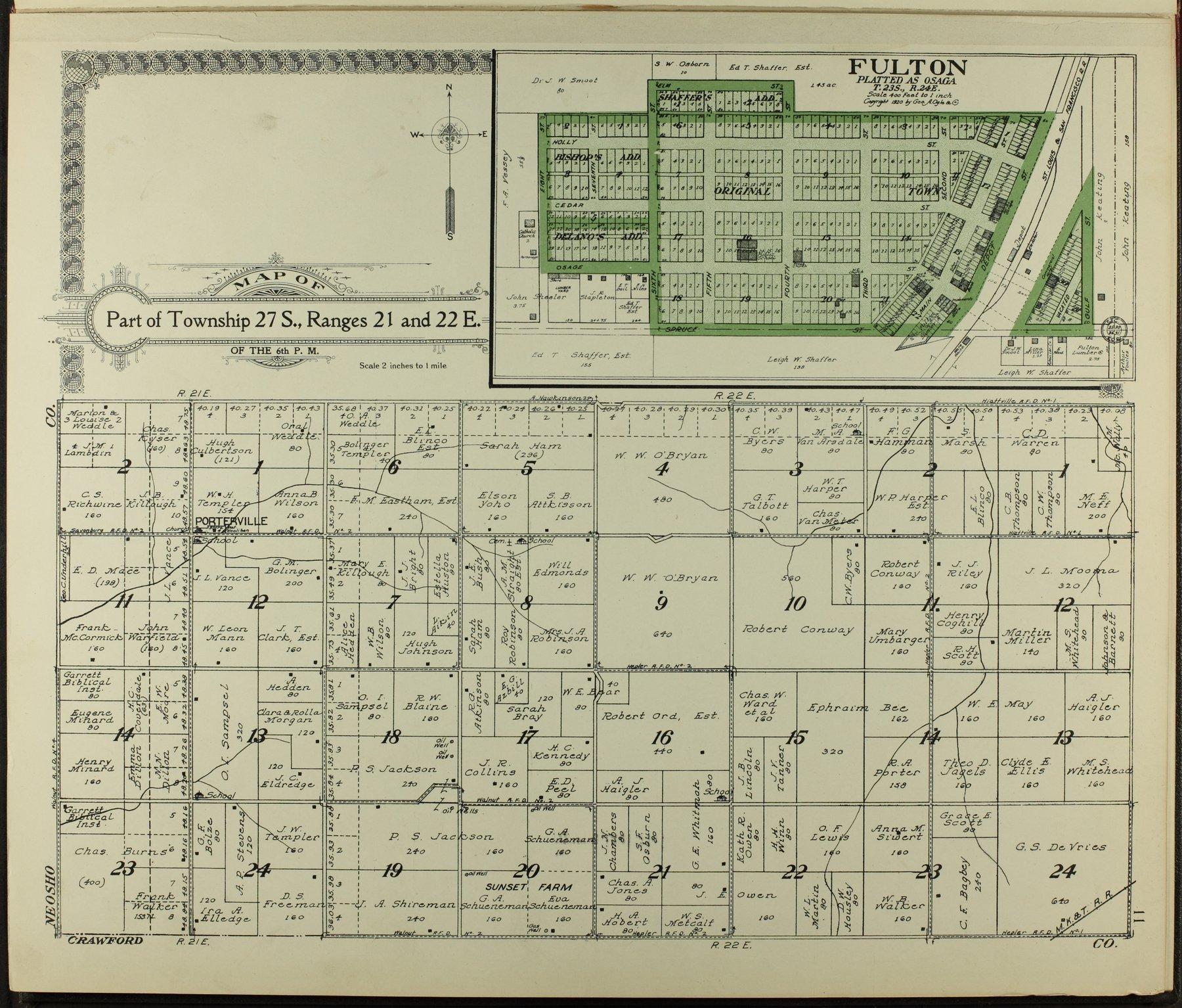 Standard atlas of Bourbon County, Kansas - 11