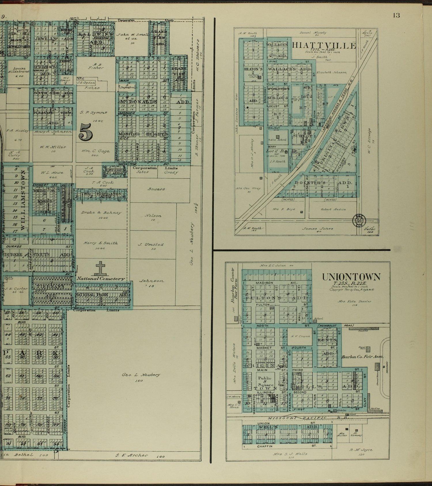 Standard atlas of Bourbon County, Kansas - 13