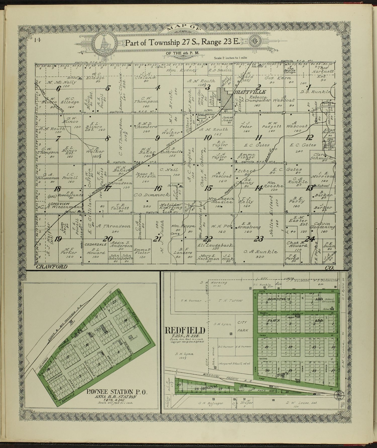 Standard atlas of Bourbon County, Kansas - 14