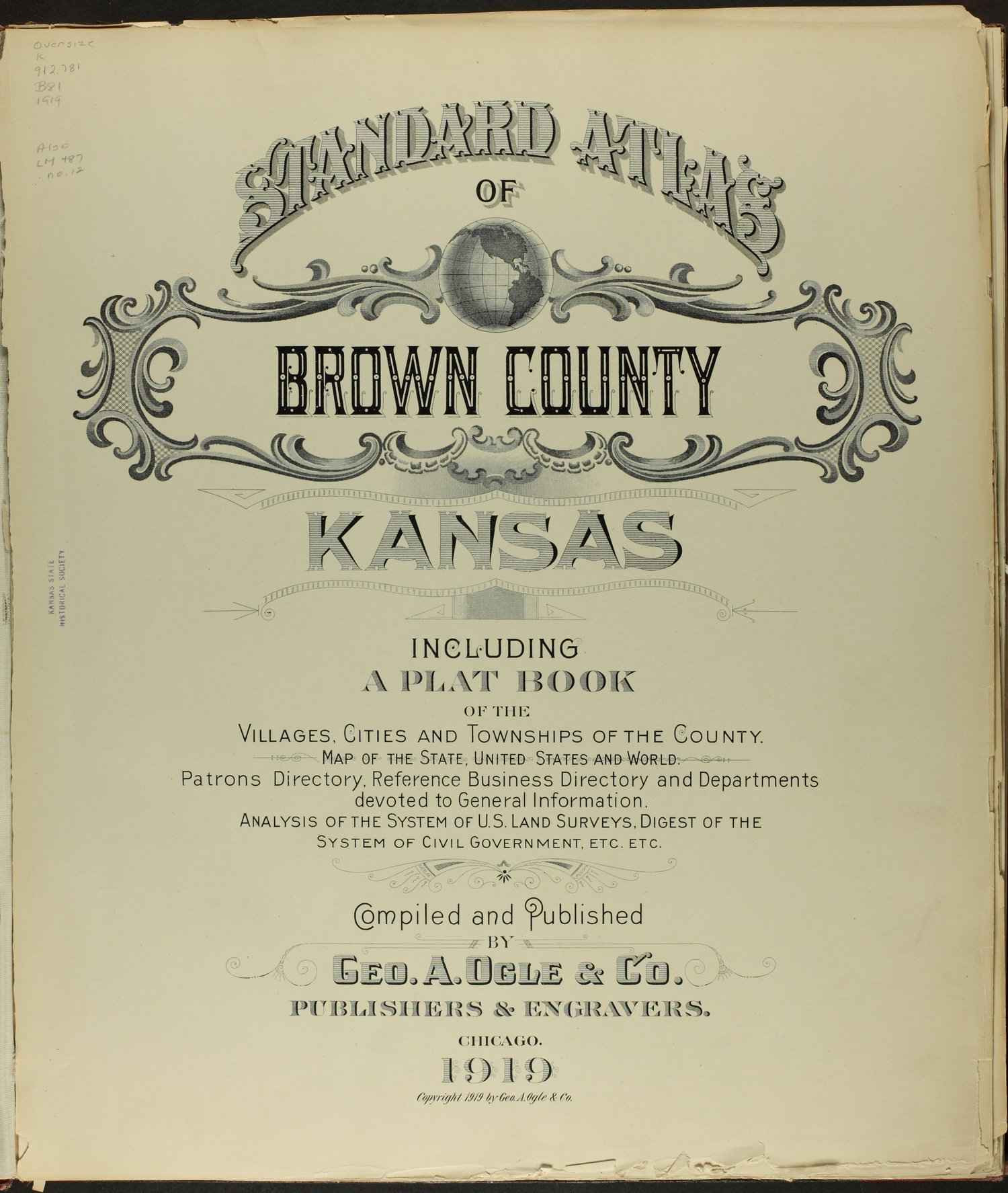 Standard atlas of Brown County, Kansas - Title Page