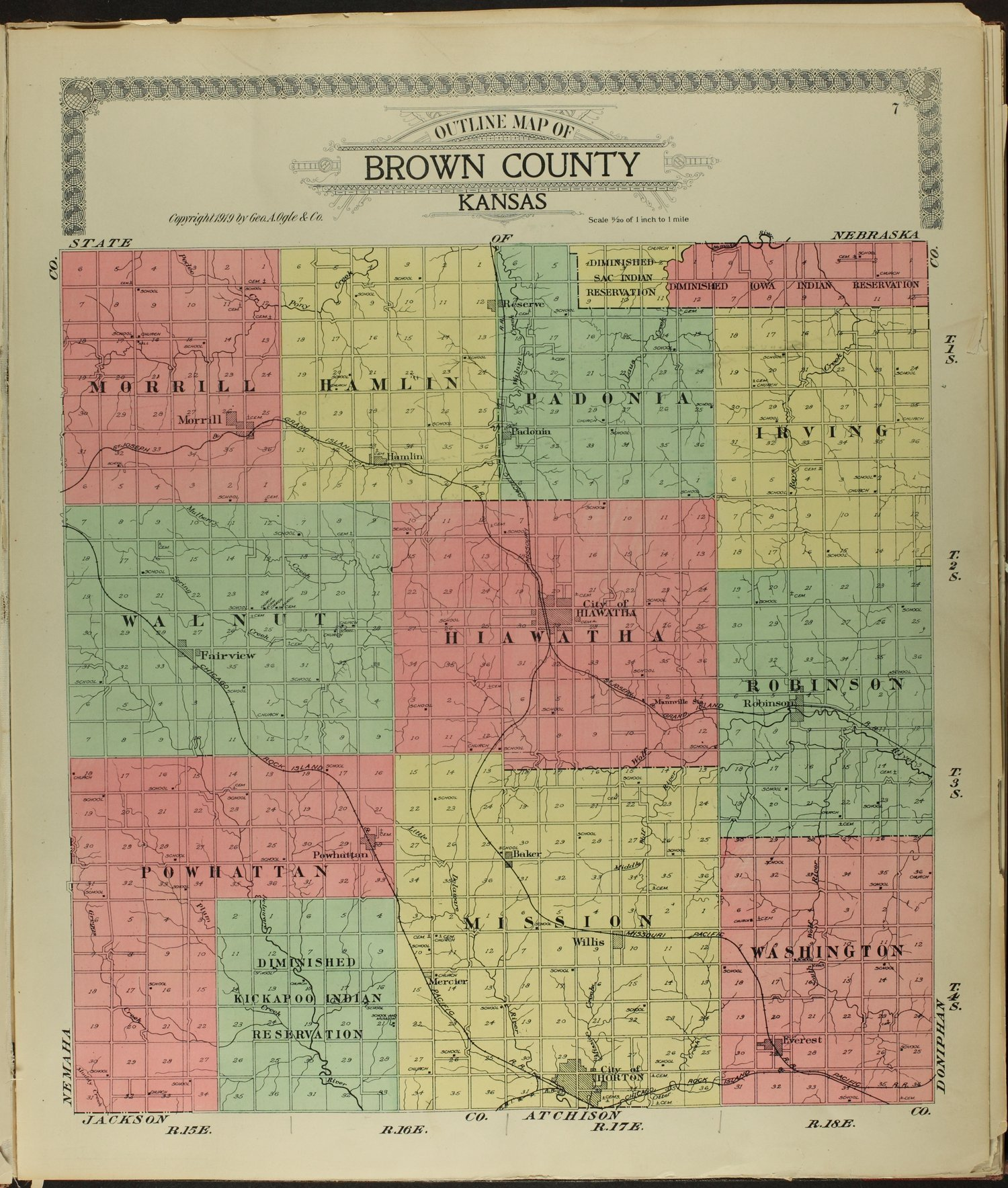 Standard atlas of Brown County, Kansas - 7