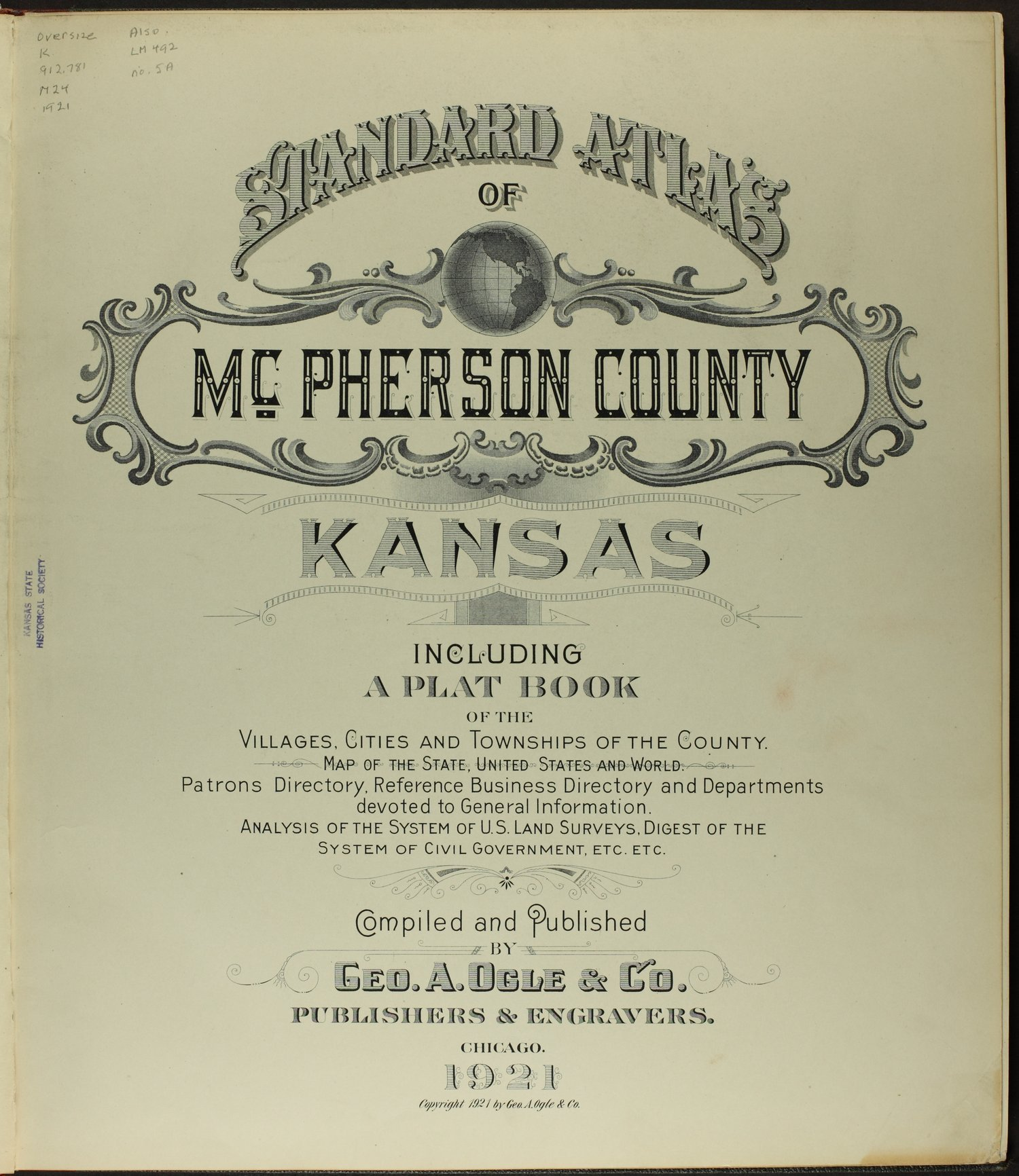 Standard atlas of McPherson County, Kansas - Title Page