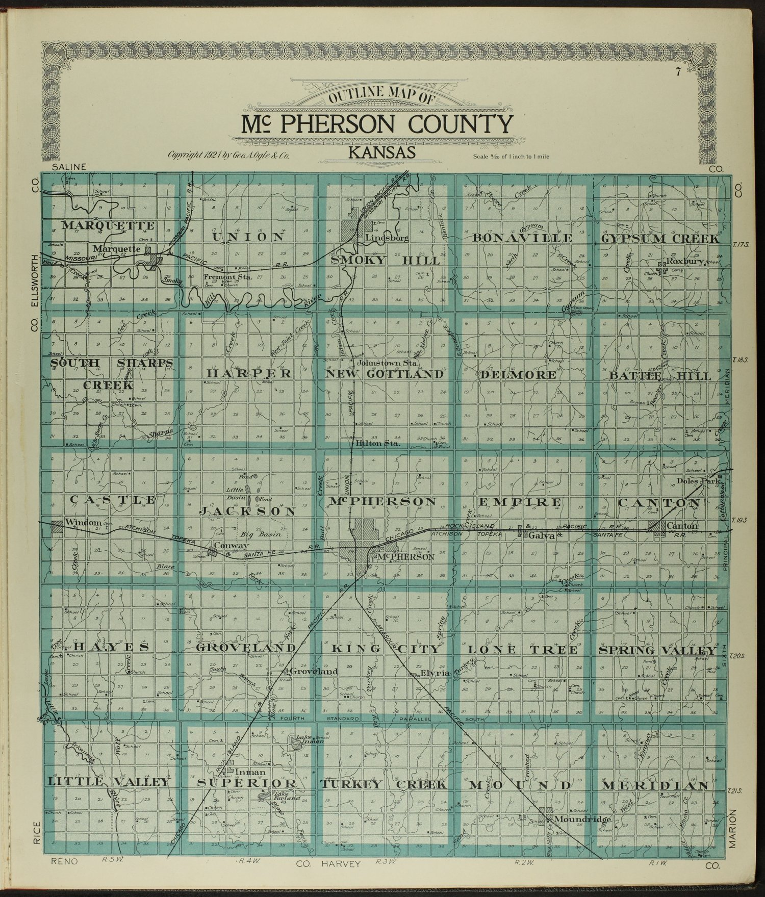Standard atlas of McPherson County, Kansas - 7