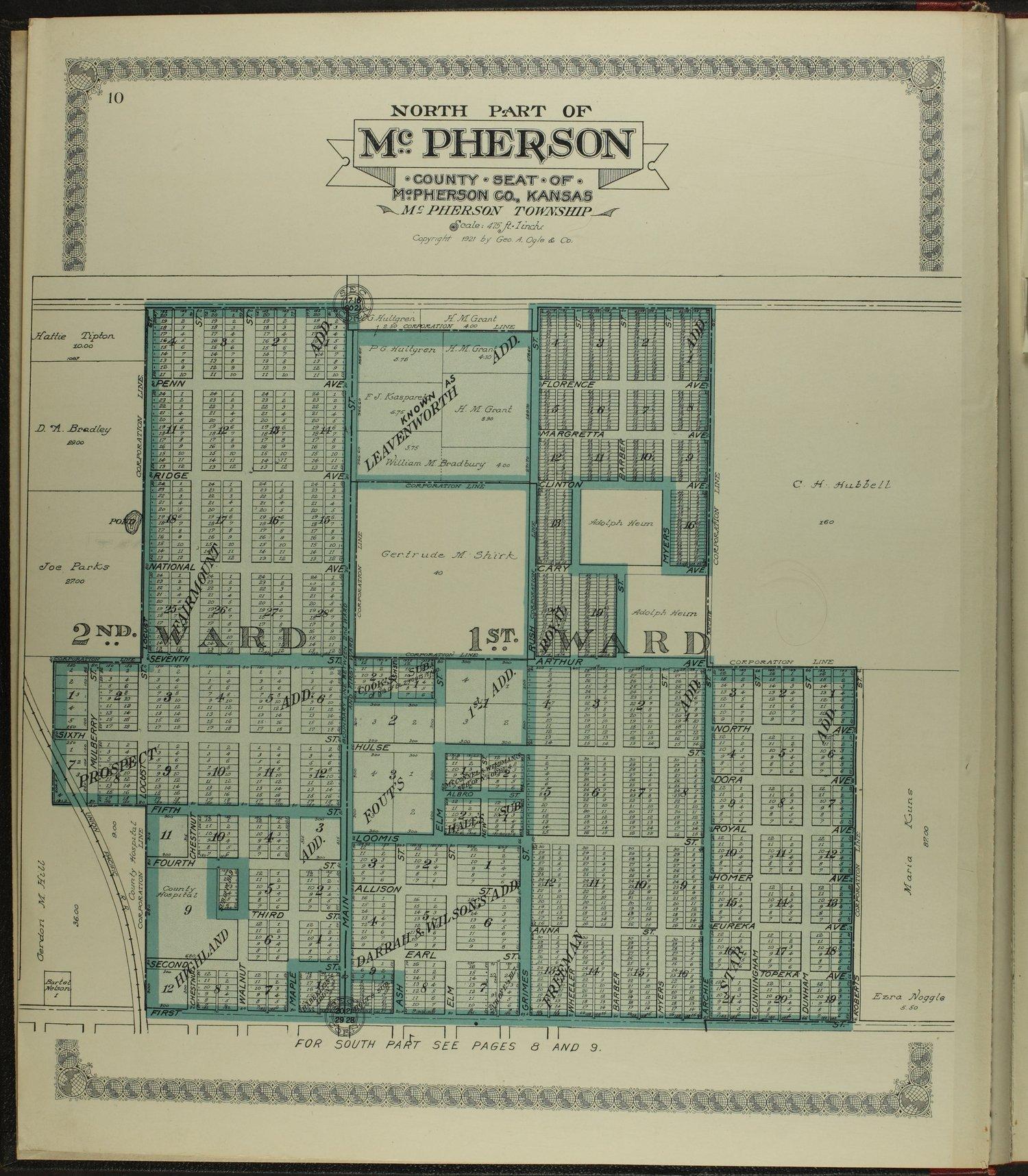Standard atlas of McPherson County, Kansas - 10