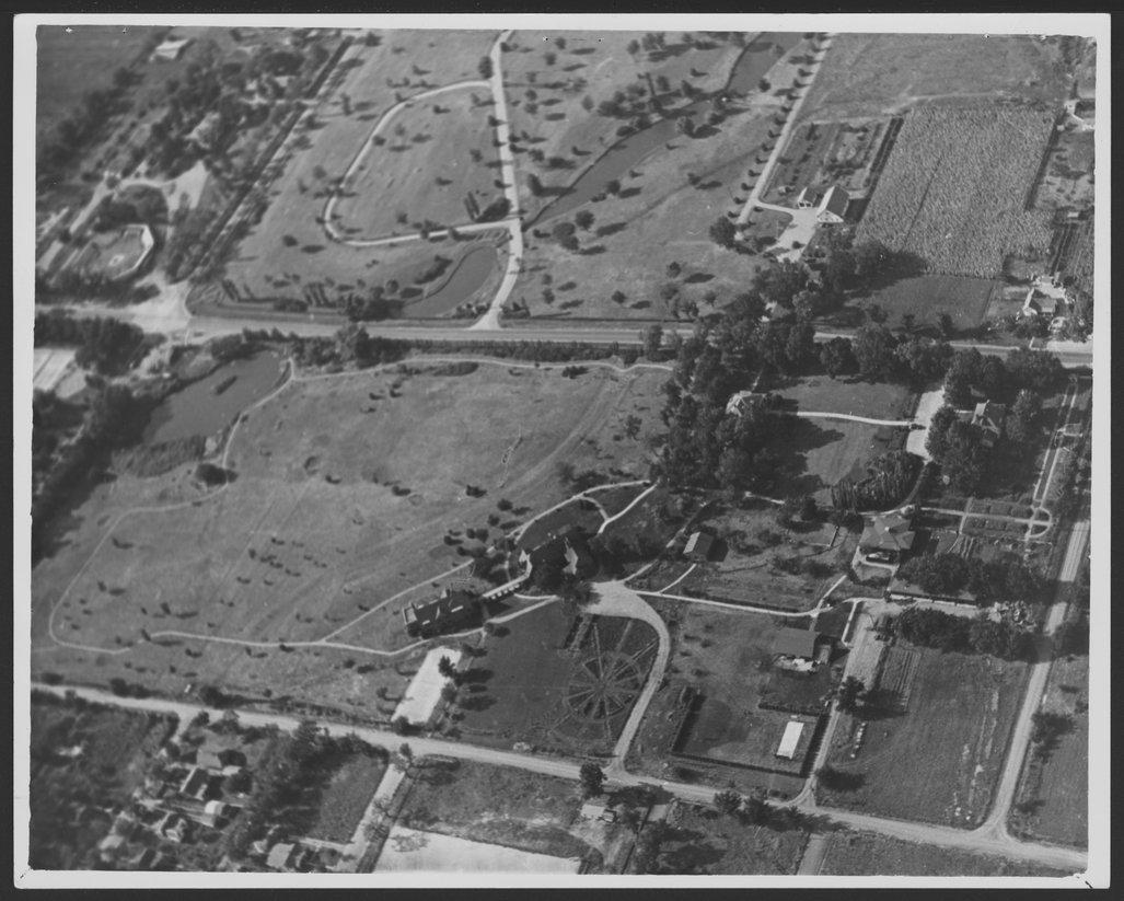 Aerial view of Menninger Sanitarium,  Topeka, Kansas, 1937