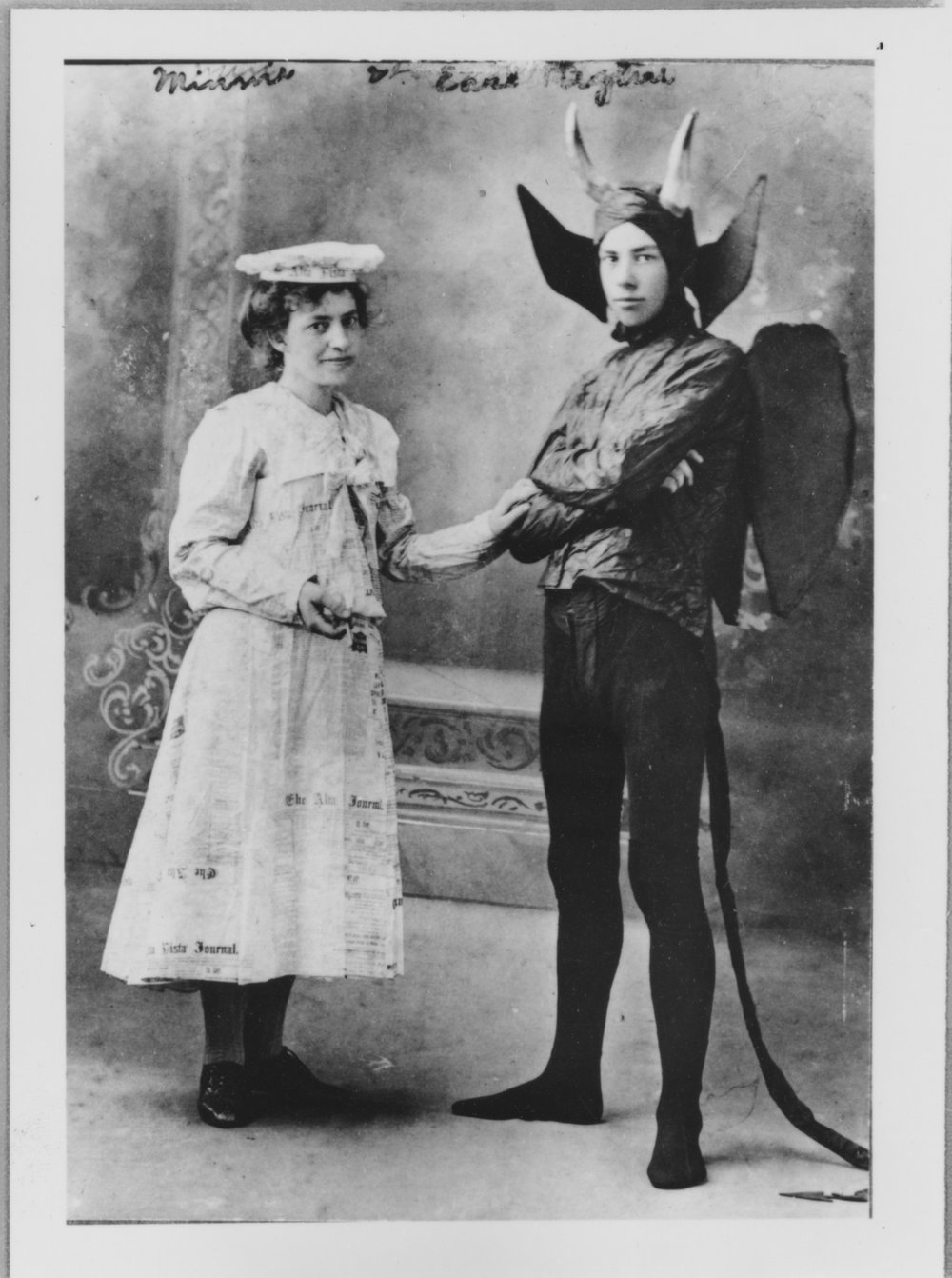 Minnie and Earl Biglin in costumes