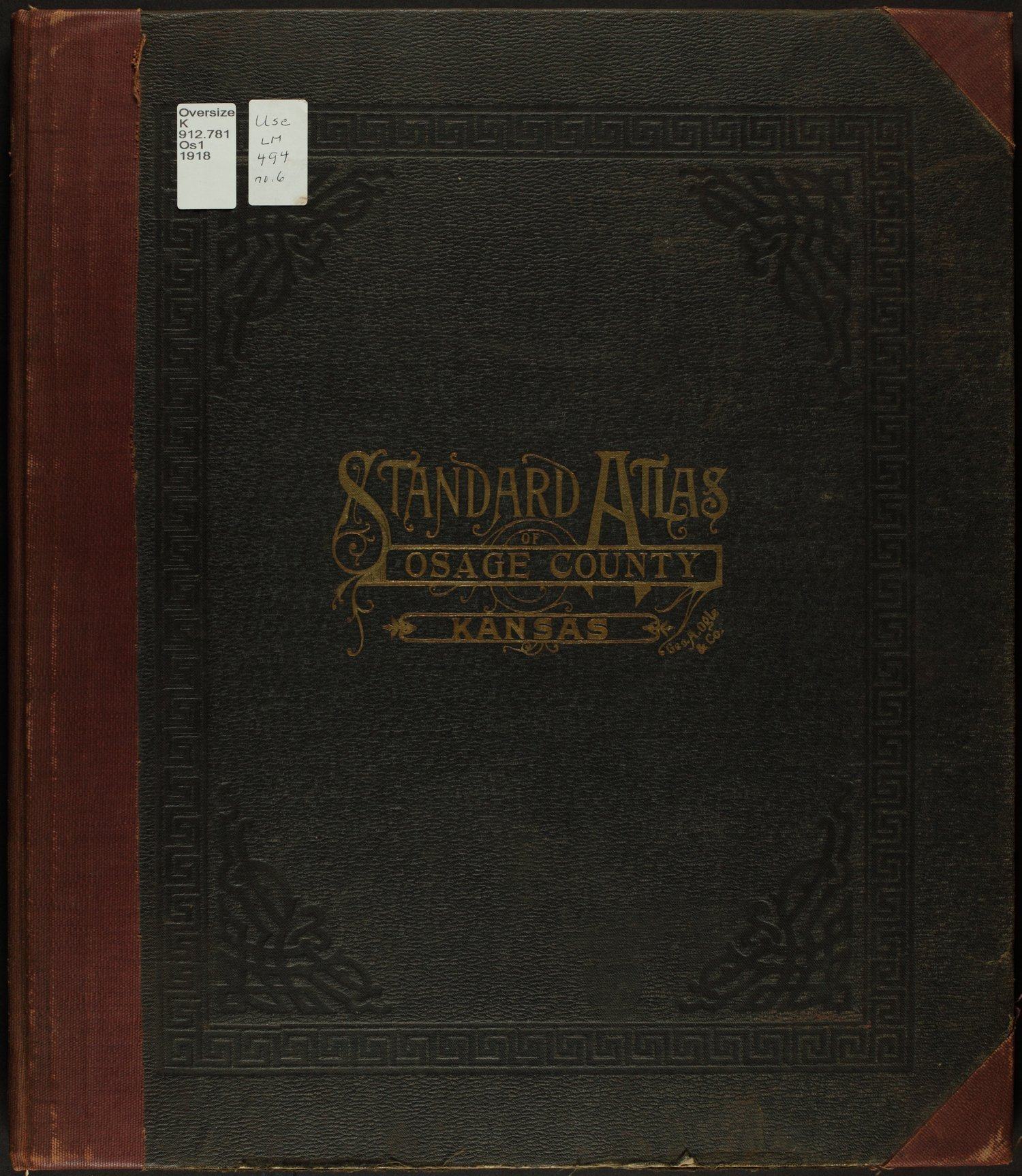 Standard atlas of Osage County, Kansas - Front Cover