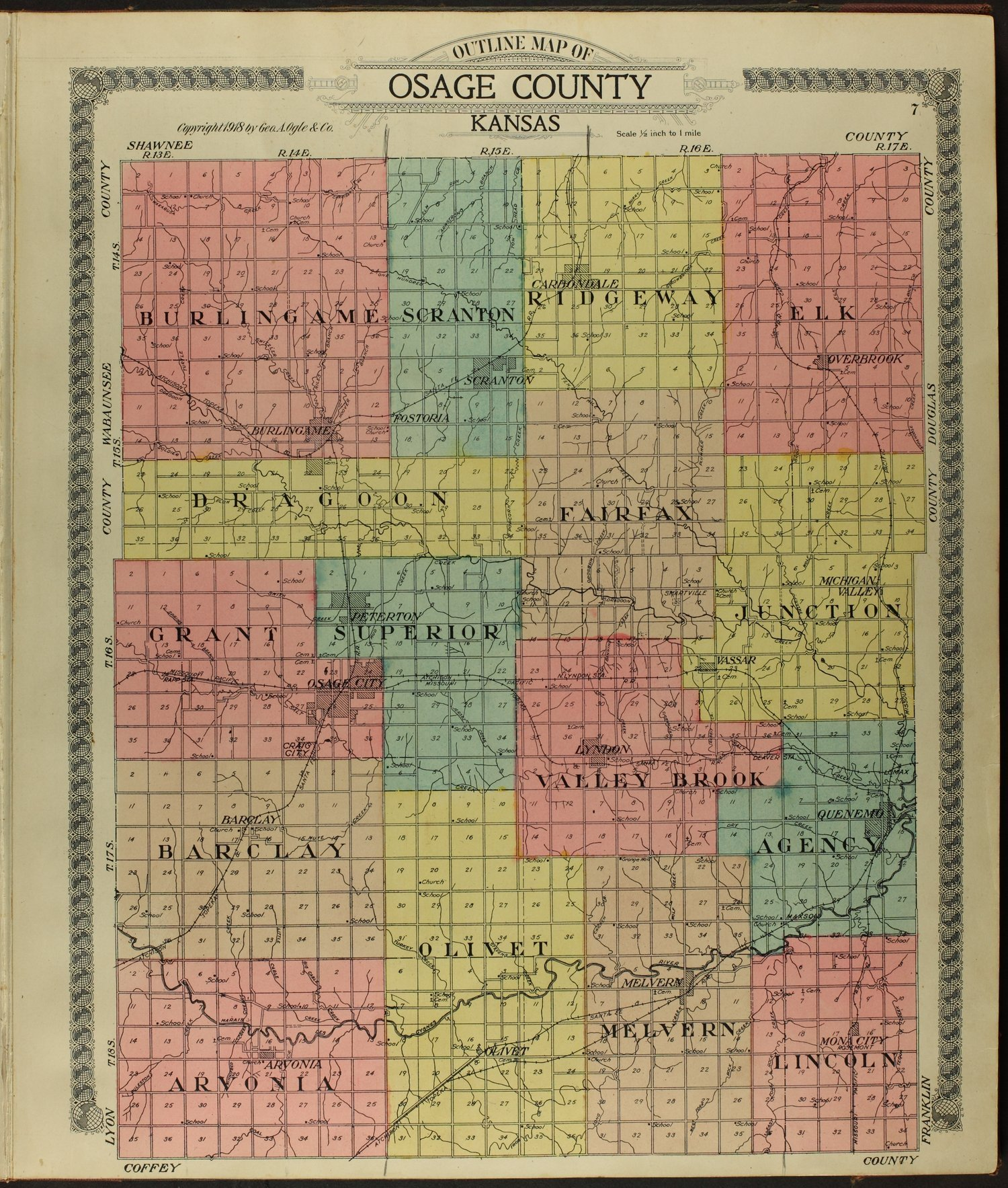 Standard atlas of Osage County, Kansas - 7