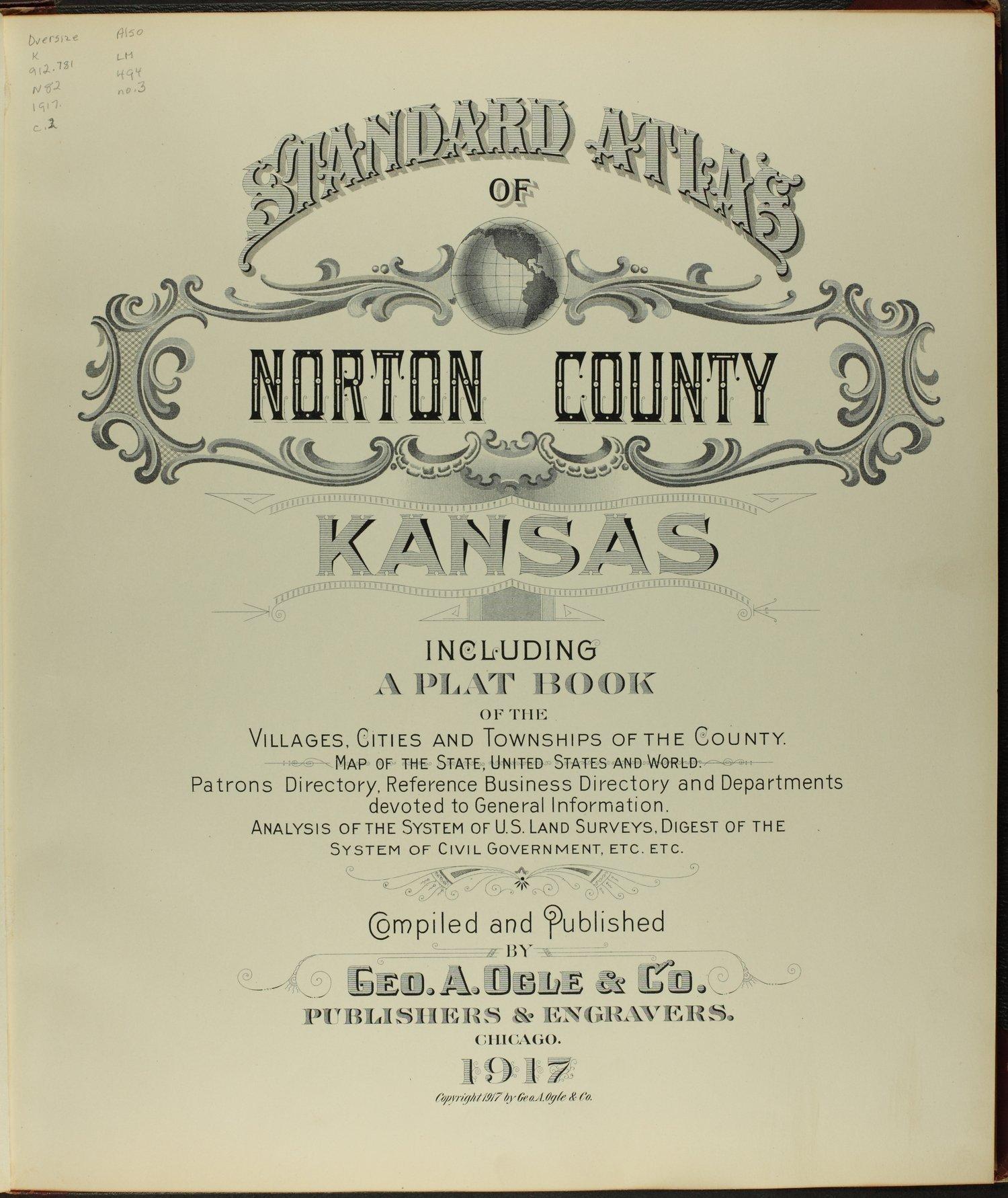Standard atlas of Norton County, Kansas - Title Page
