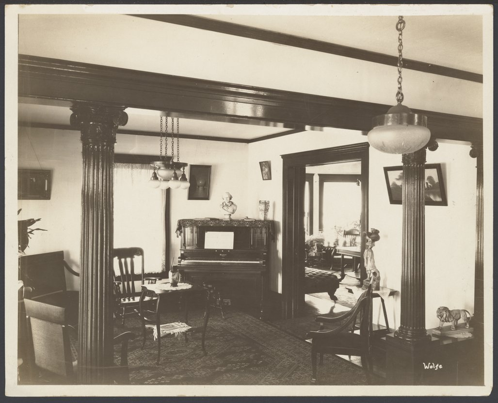 Interior views of the early Menninger Sanitarium in  Topeka, Kansas - 1