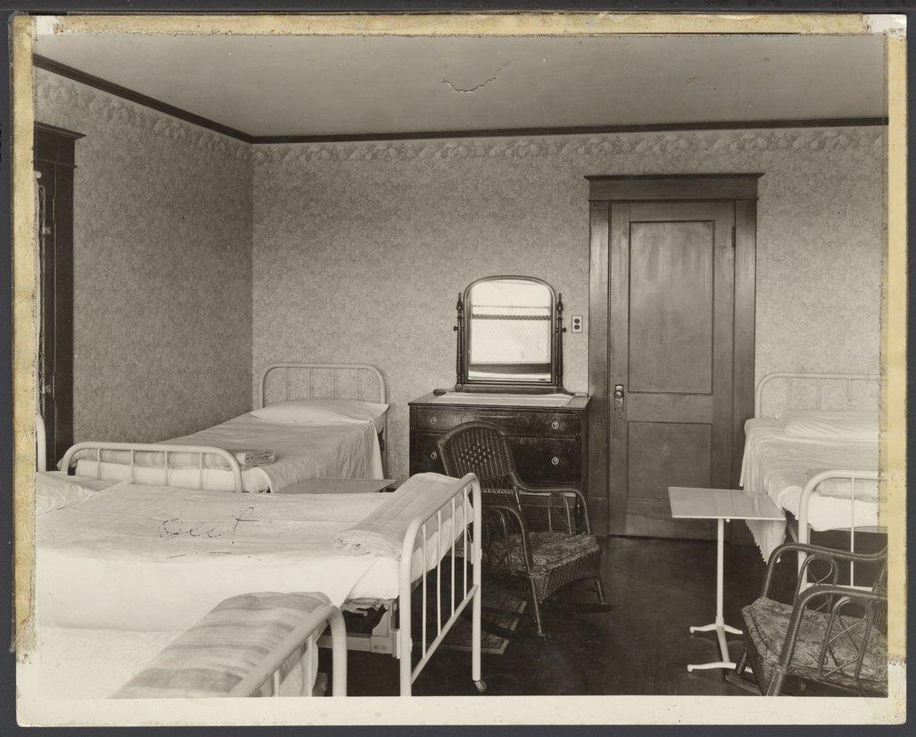 Interior views of the early Menninger Sanitarium in  Topeka, Kansas - 1