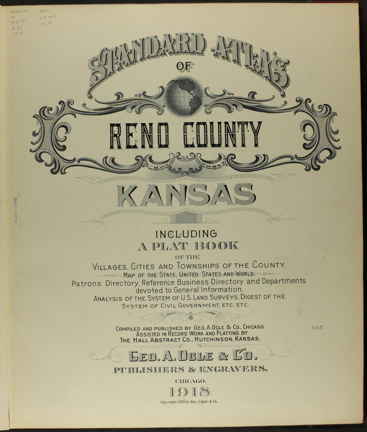 Standard atlas of Reno County, Kansas - Title Page