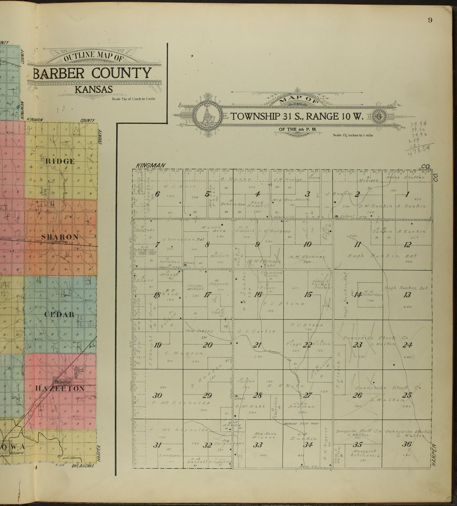Standard atlas of Barber County, Kansas - 9