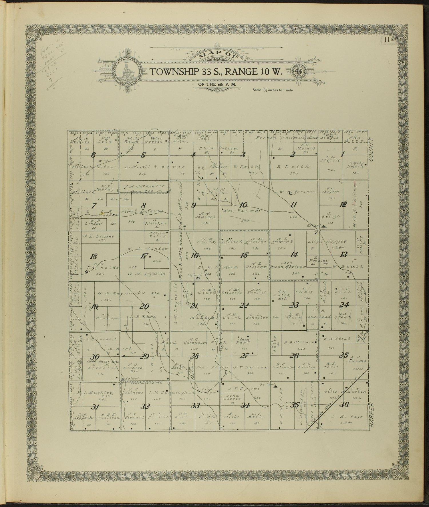 Standard atlas of Barber County, Kansas - 11