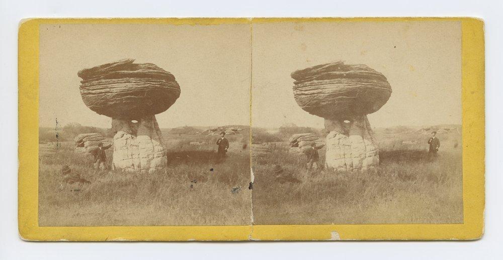 Mushroom Rock on Alum Creek, Kansas. 7 Miles east of Fort Harker & 496 miles west of St. Louis Mo. - 1