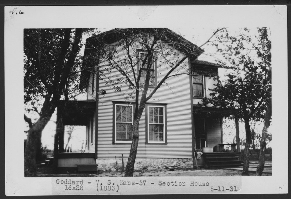 Atchison, Topeka & Santa Fe Railway Company section house, Goddard, Kansas