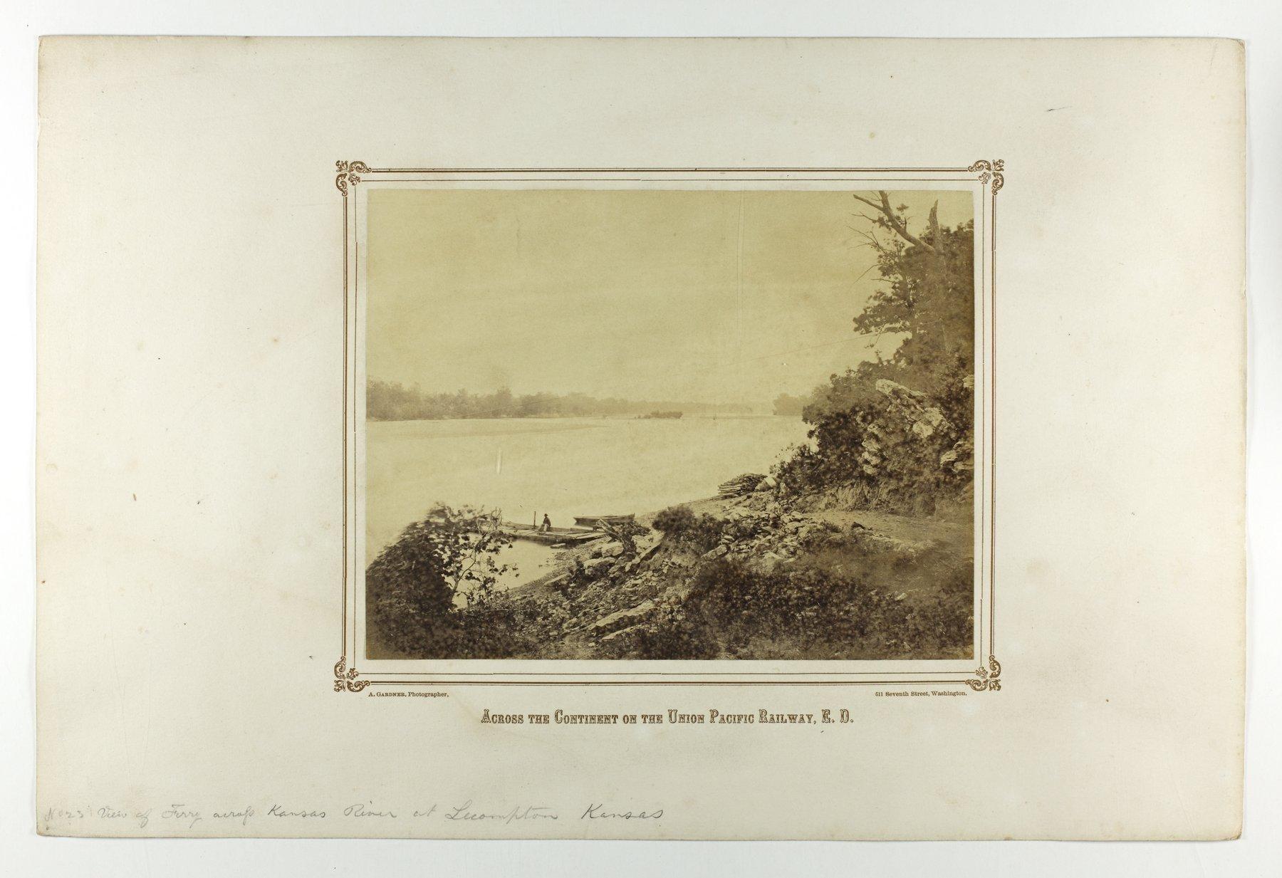 Ferry on the Kansas River at Lecompton, Kansas