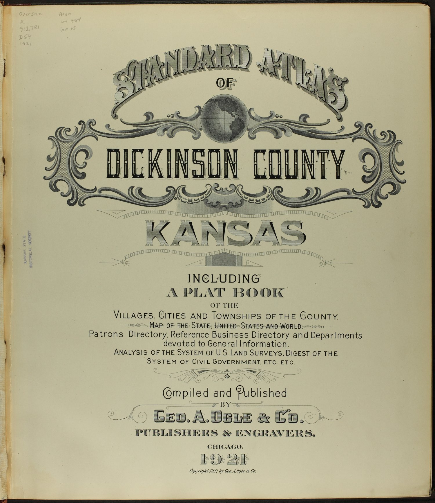 Standard atlas of Dickinson County, Kansas - Title Page