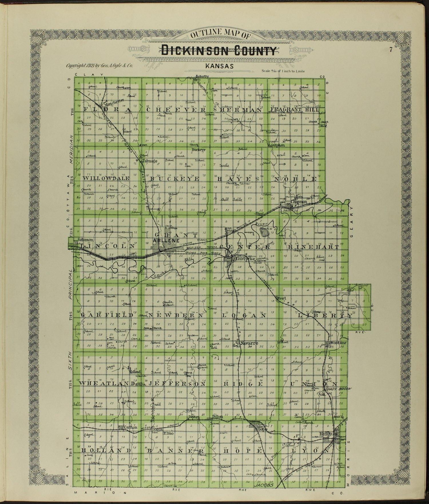 Standard atlas of Dickinson County, Kansas - 7