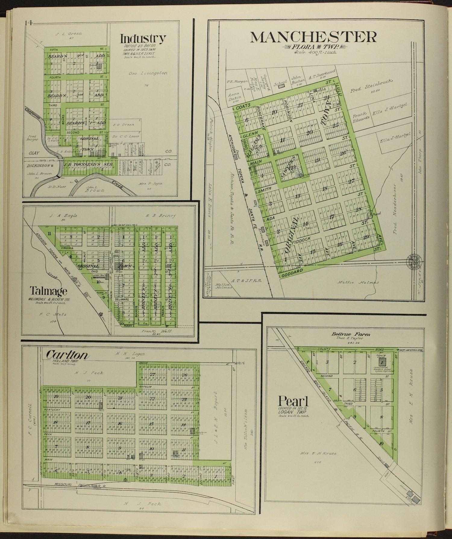 Standard atlas of Dickinson County, Kansas - 14