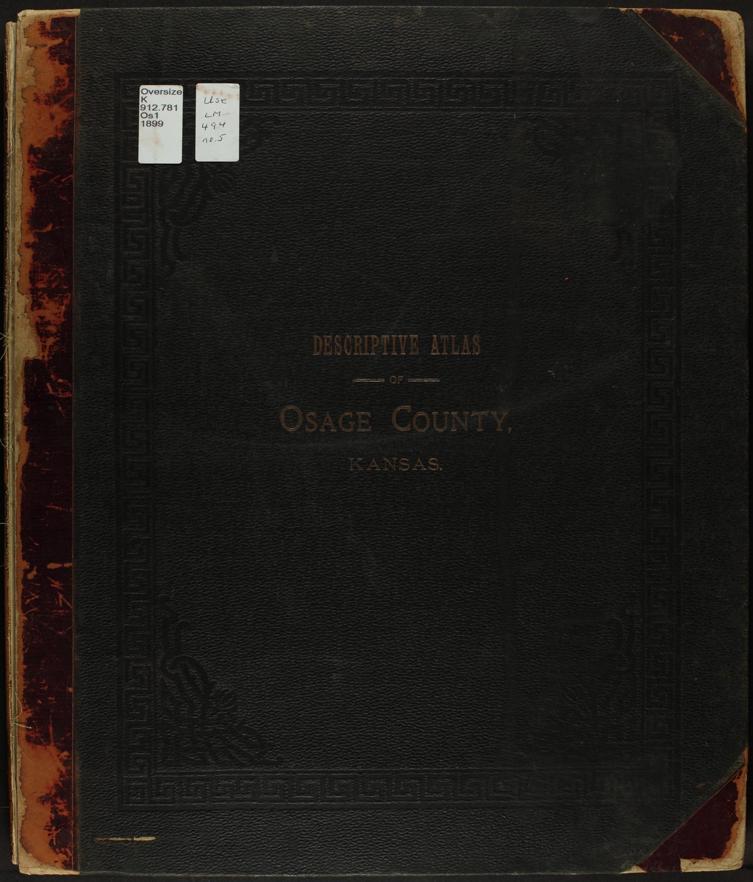 Descriptive atlas of Osage County, Kansas - Front Cover